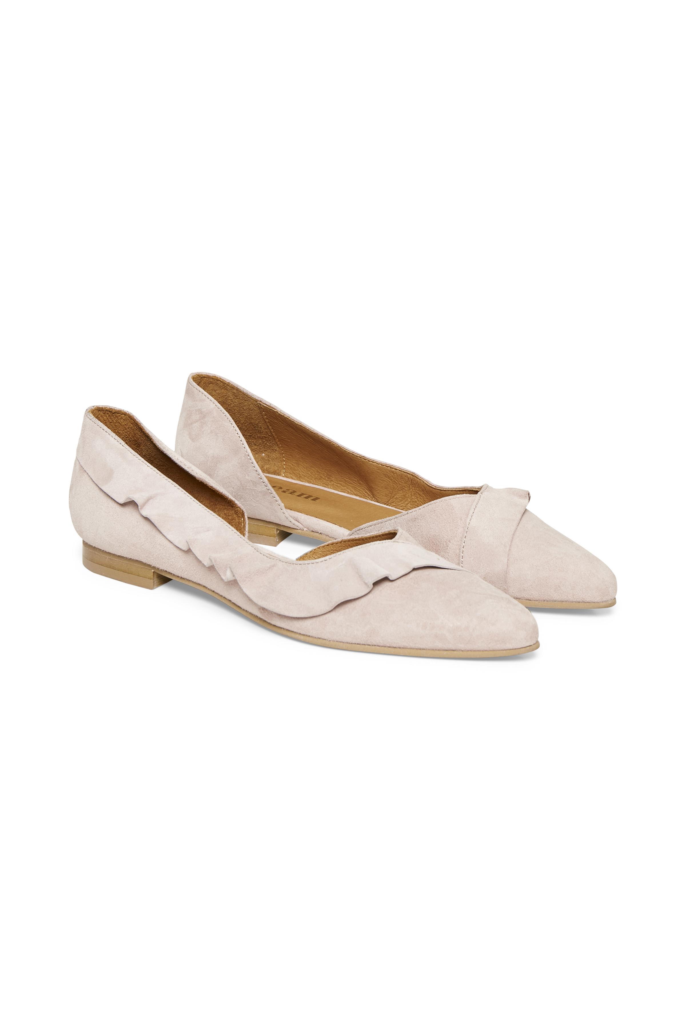 Cream Dame Suède schoen - Lichtroze