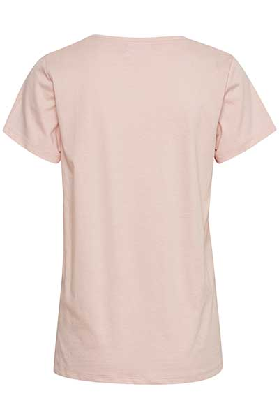 Lichtroze T-shirt korte mouw van Kaffe – Door Lichtroze T-shirt korte mouw van maat. L-XXL hier
