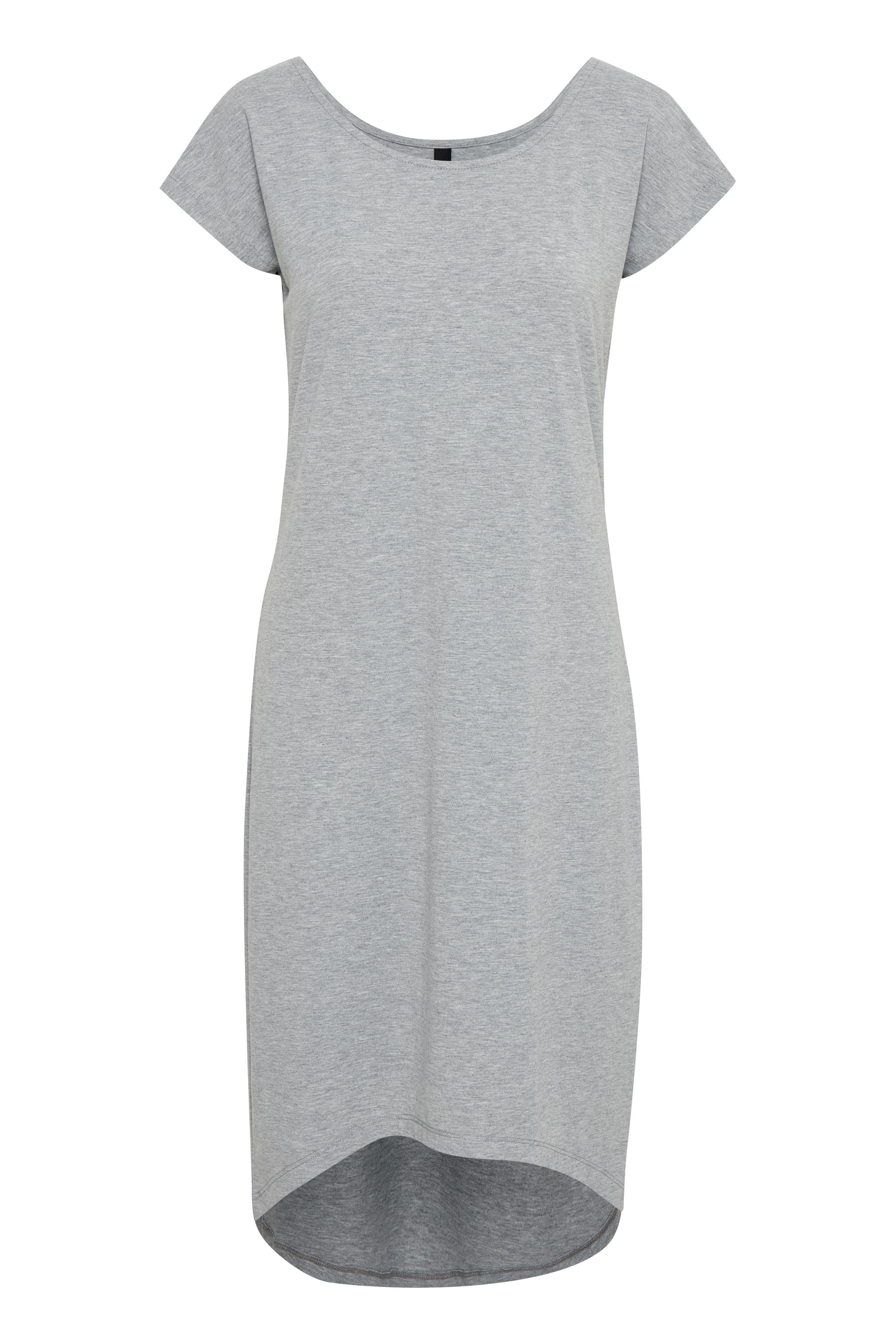 Pulz Jeans Dame Kjole - Light Grey Melange