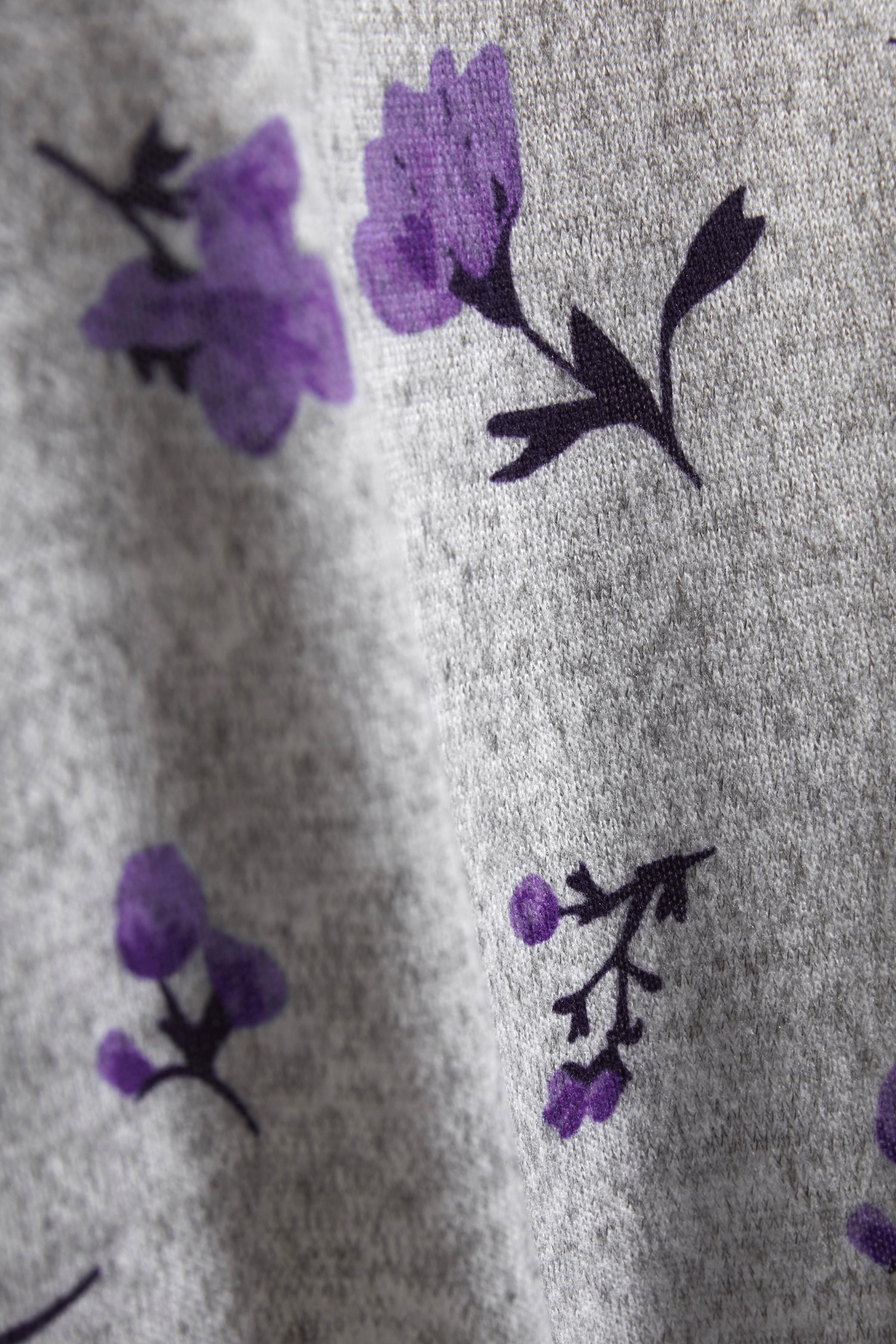 Ljus gråmelerad/lila Blus från Fransa – Köp Ljus gråmelerad/lila Blus från stl. XS-XXL här