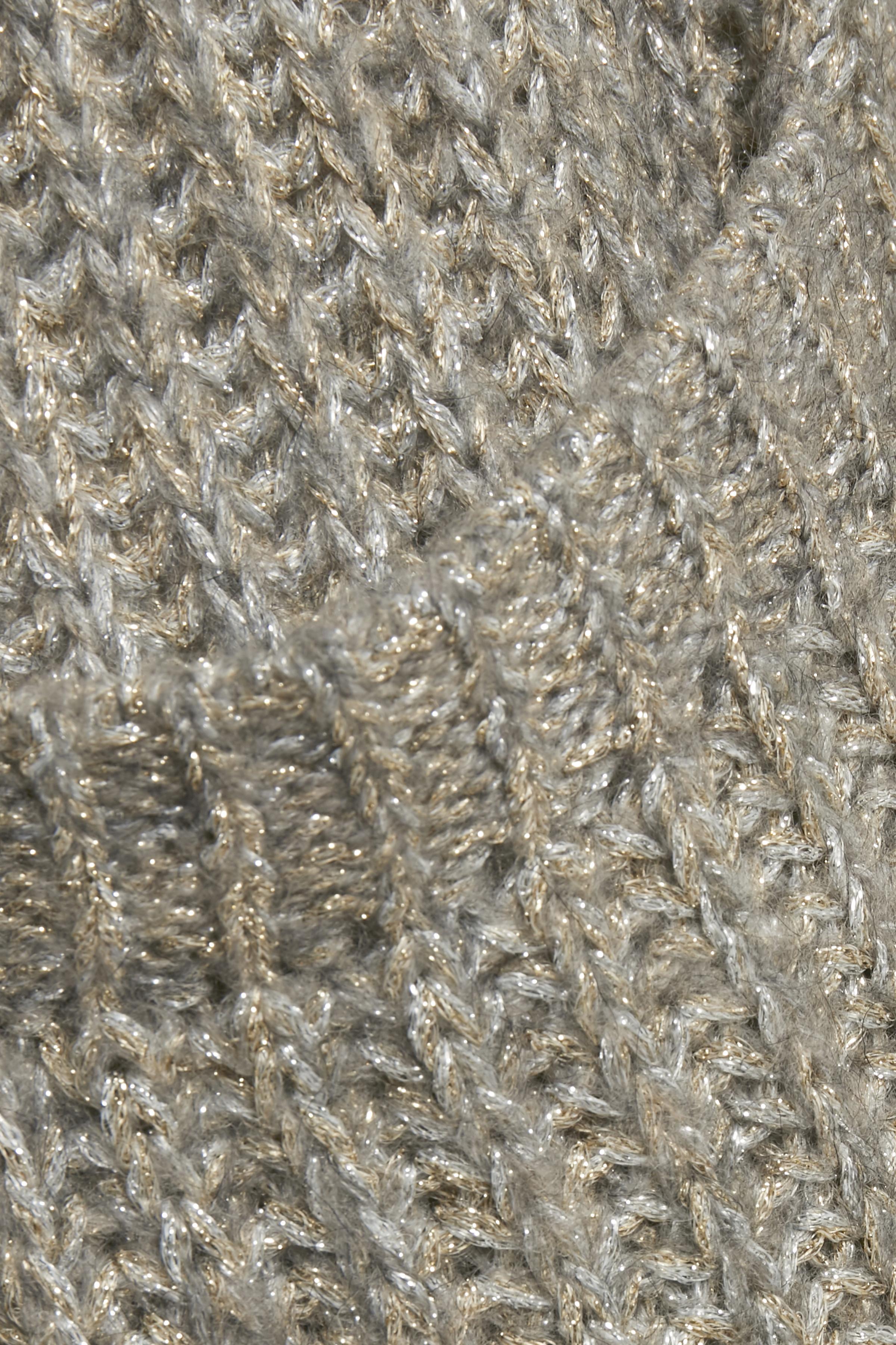 Ljus gråmelerad Stickad cardigan från Cream – Köp Ljus gråmelerad Stickad cardigan från stl. XS-XXL här