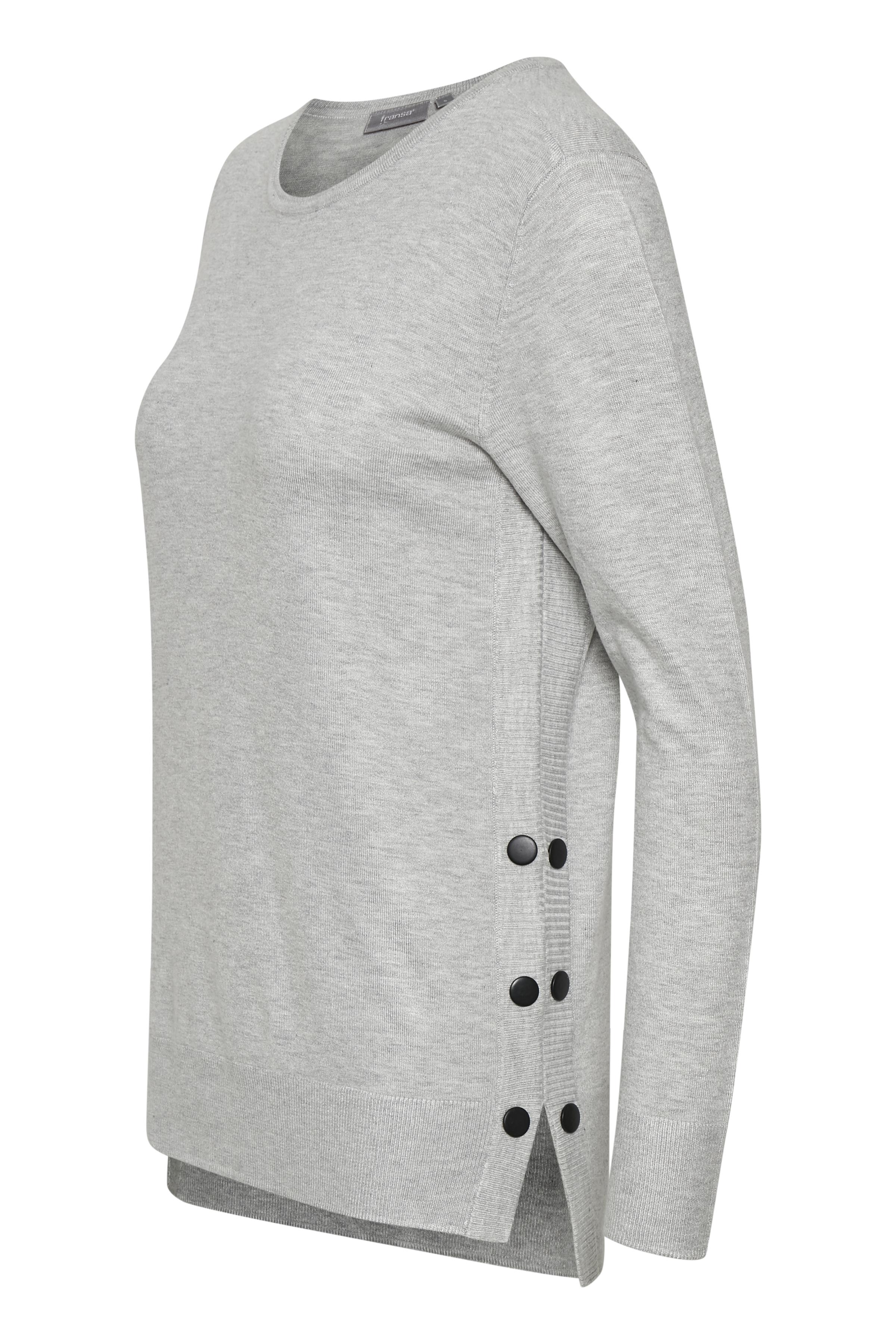 Ljus gråmelerad Stickad pullover från Fransa – Köp Ljus gråmelerad Stickad pullover från stl. XS-XXL här