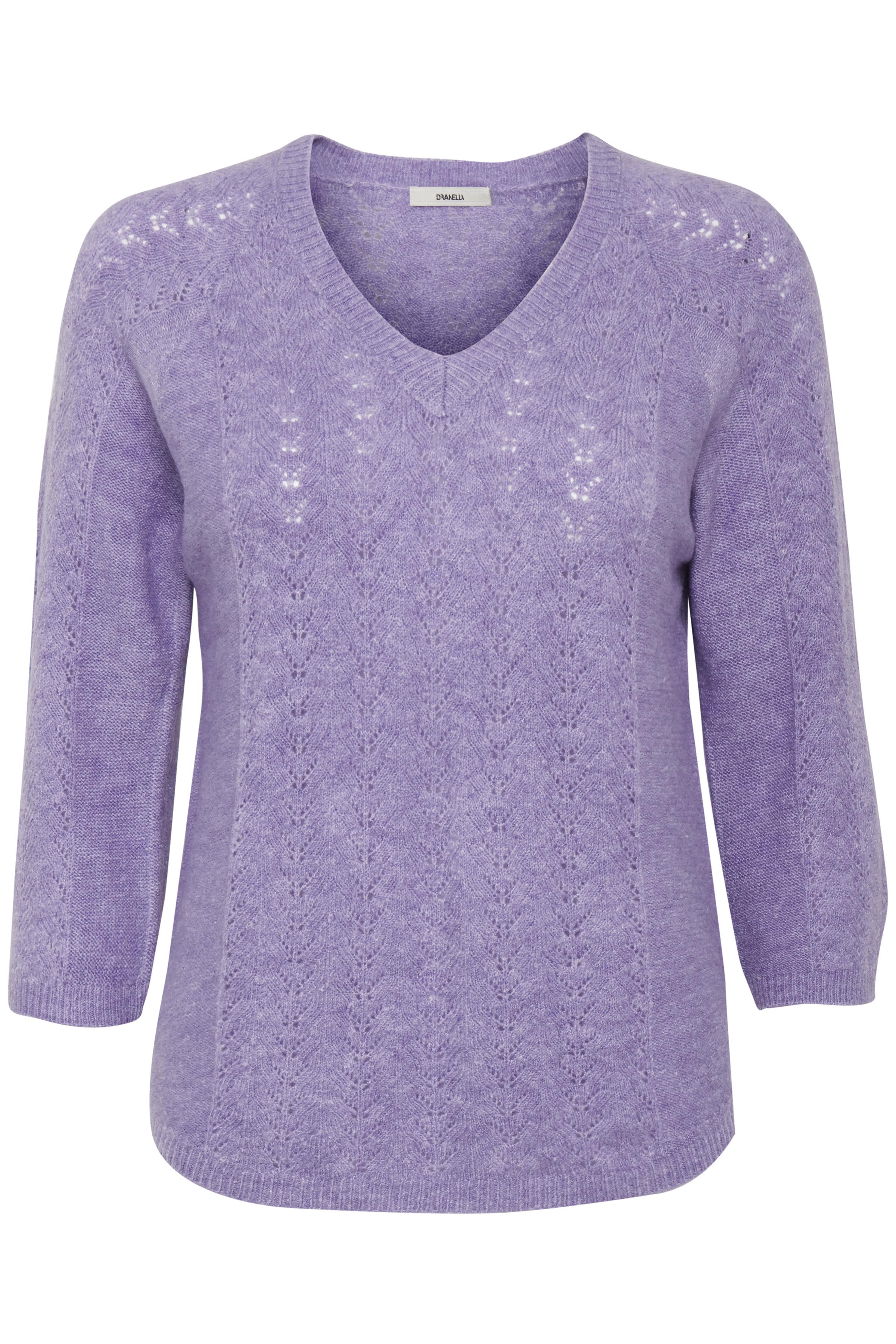 Ljus lilamelerad Stickad tröja från Dranella – Köp Ljus lilamelerad Stickad tröja från stl. XS-XXL här