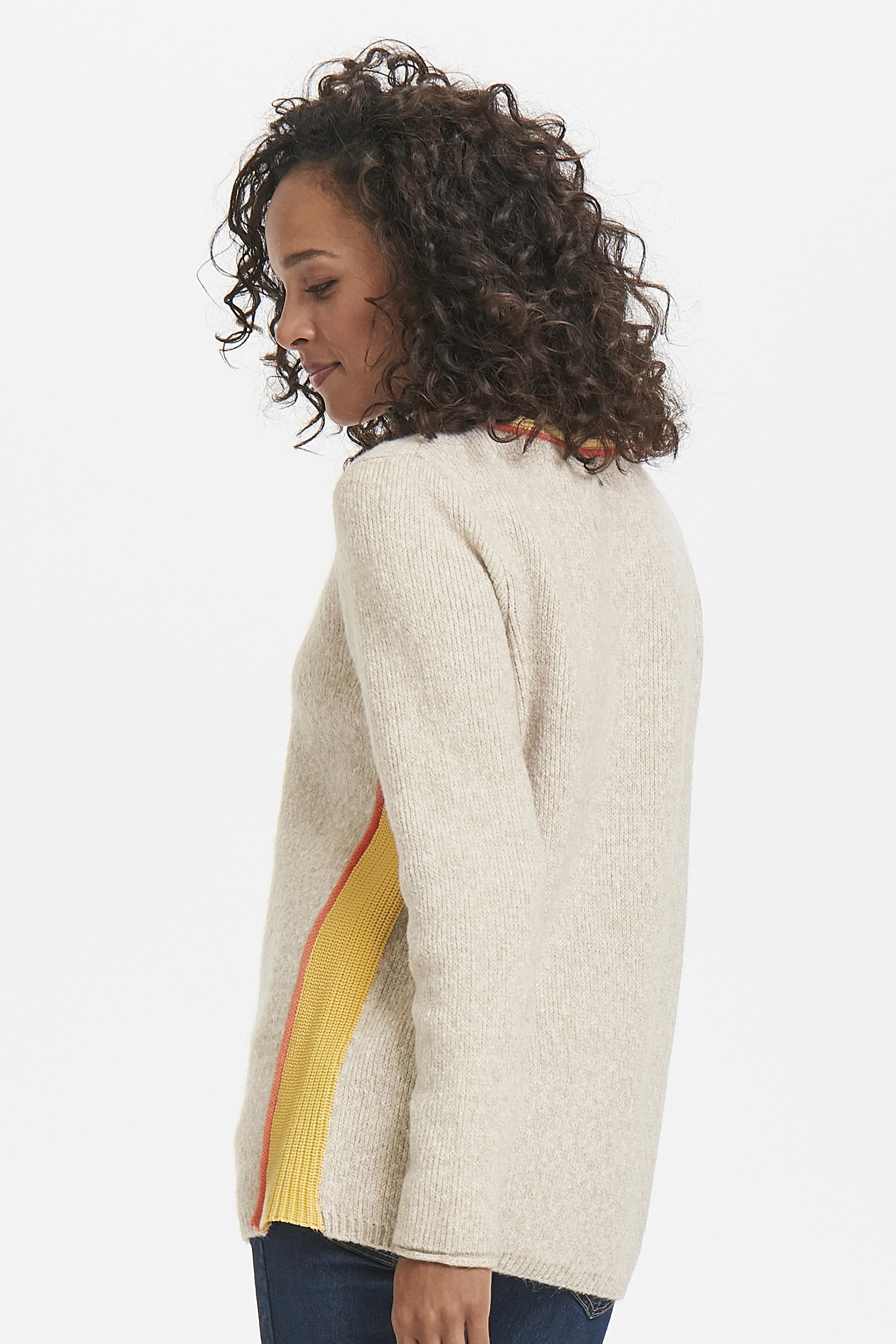 Ljus sand/orange Stickad pullover från Pulz Jeans – Köp Ljus sand/orange Stickad pullover från stl. XS-XXL här