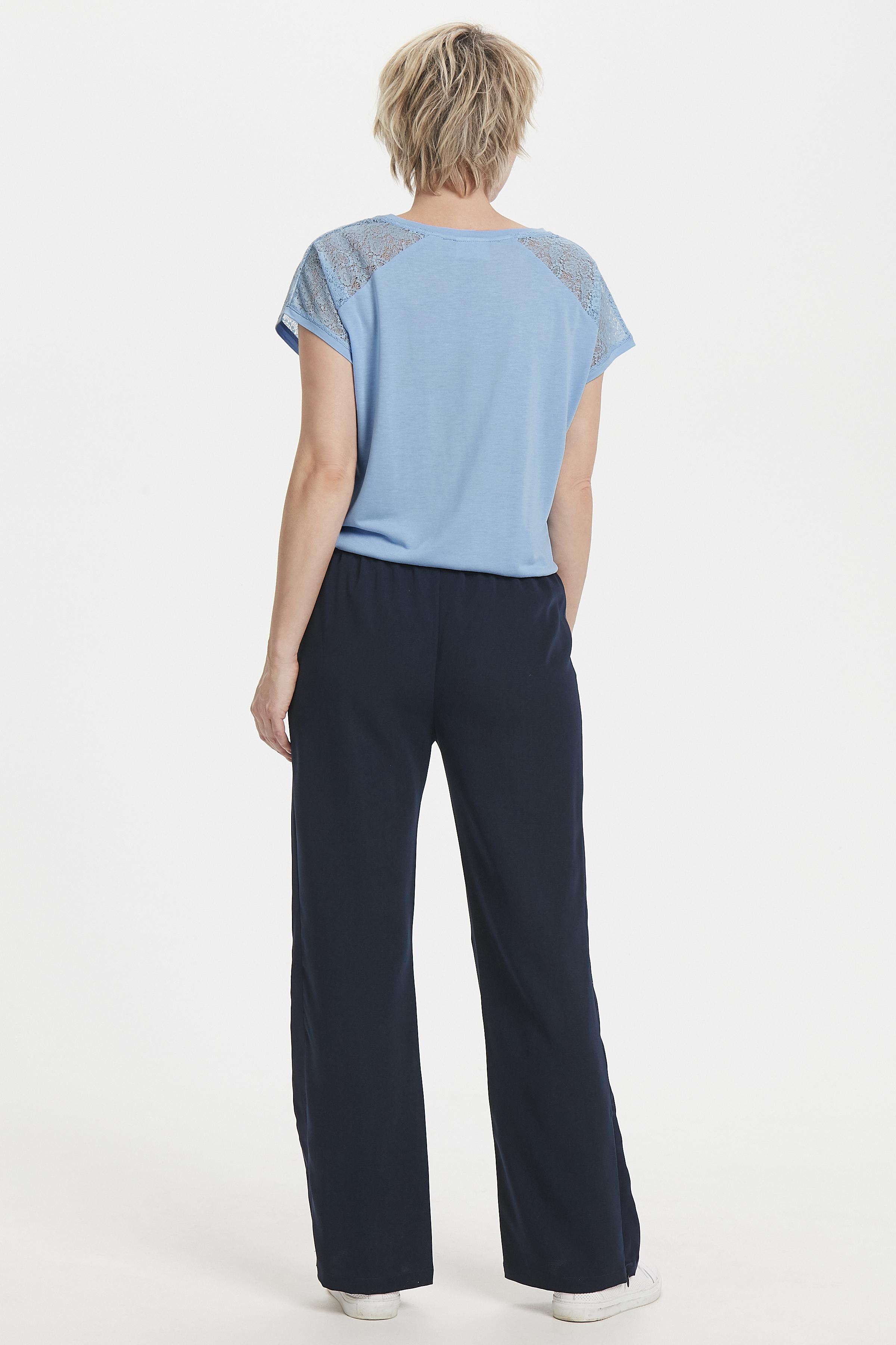 Ljusblå Kortärmad T-shirt från Kaffe – Köp Ljusblå Kortärmad T-shirt från stl. XS-XXL här