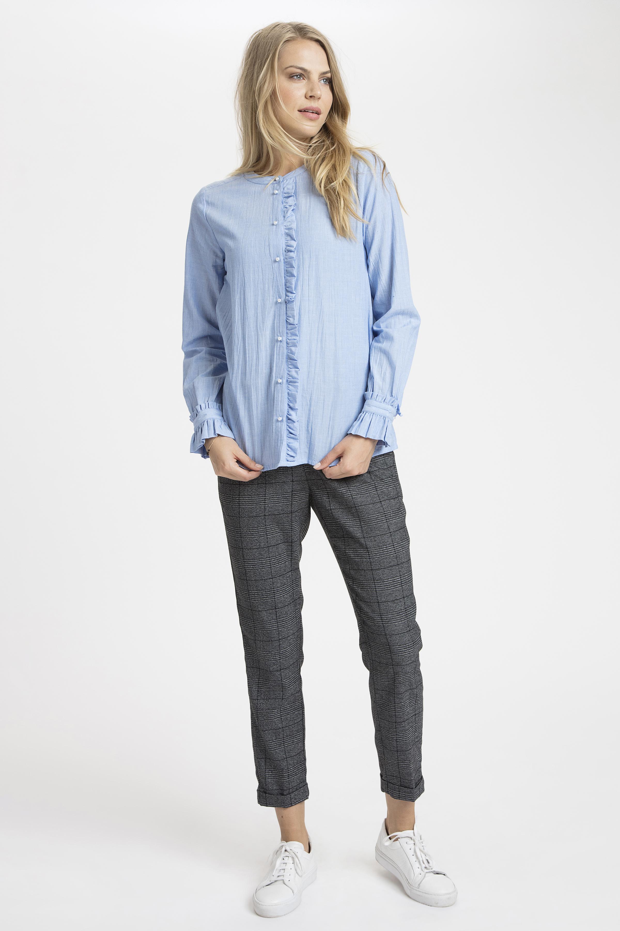 Ljusblå Långärmad skjorta från Kaffe – Köp Ljusblå Långärmad skjorta från stl. 34-46 här