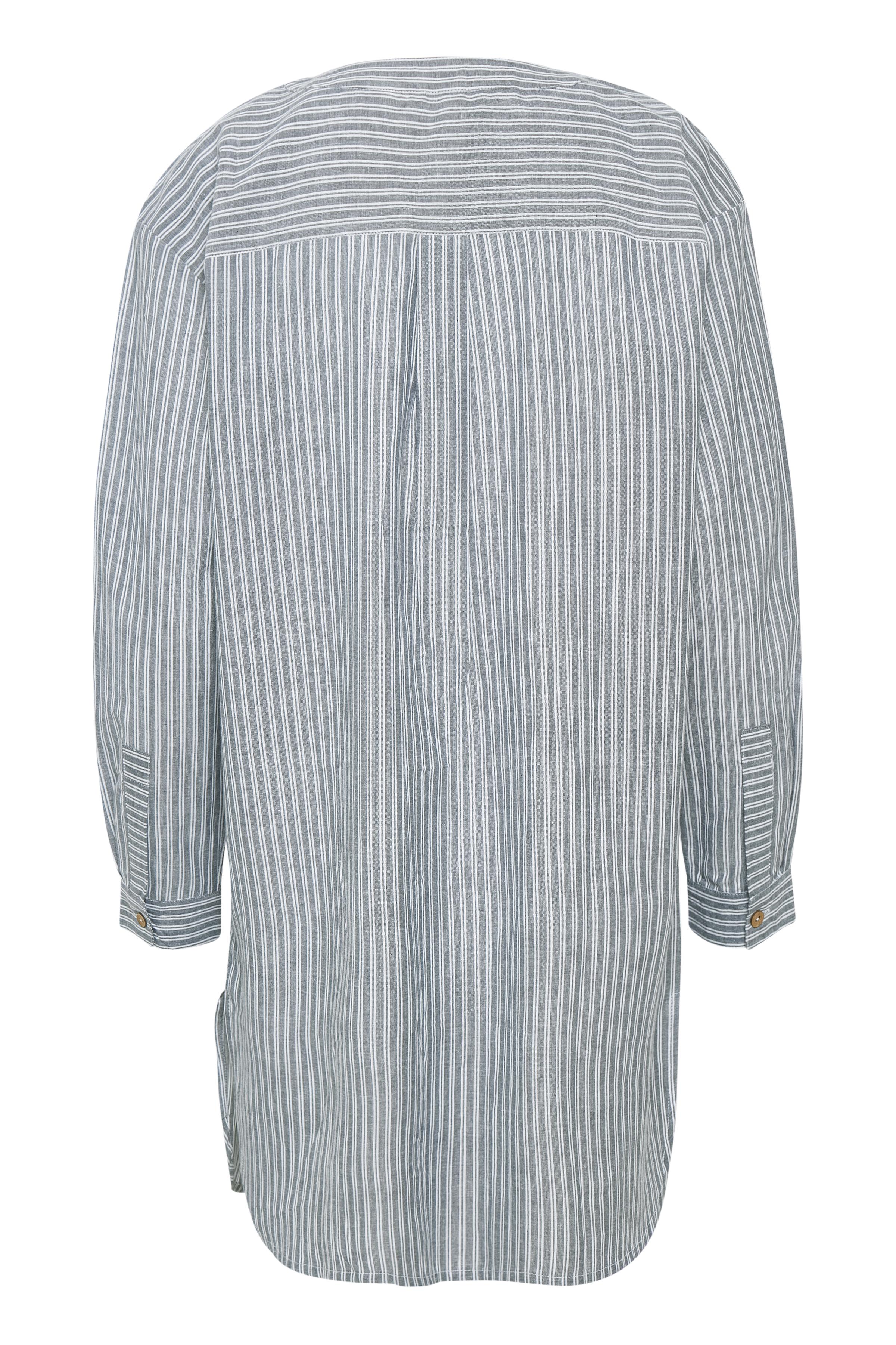 Ljusblå/vit Tunika från Bon'A Parte – Köp Ljusblå/vit Tunika från stl. S-2XL här
