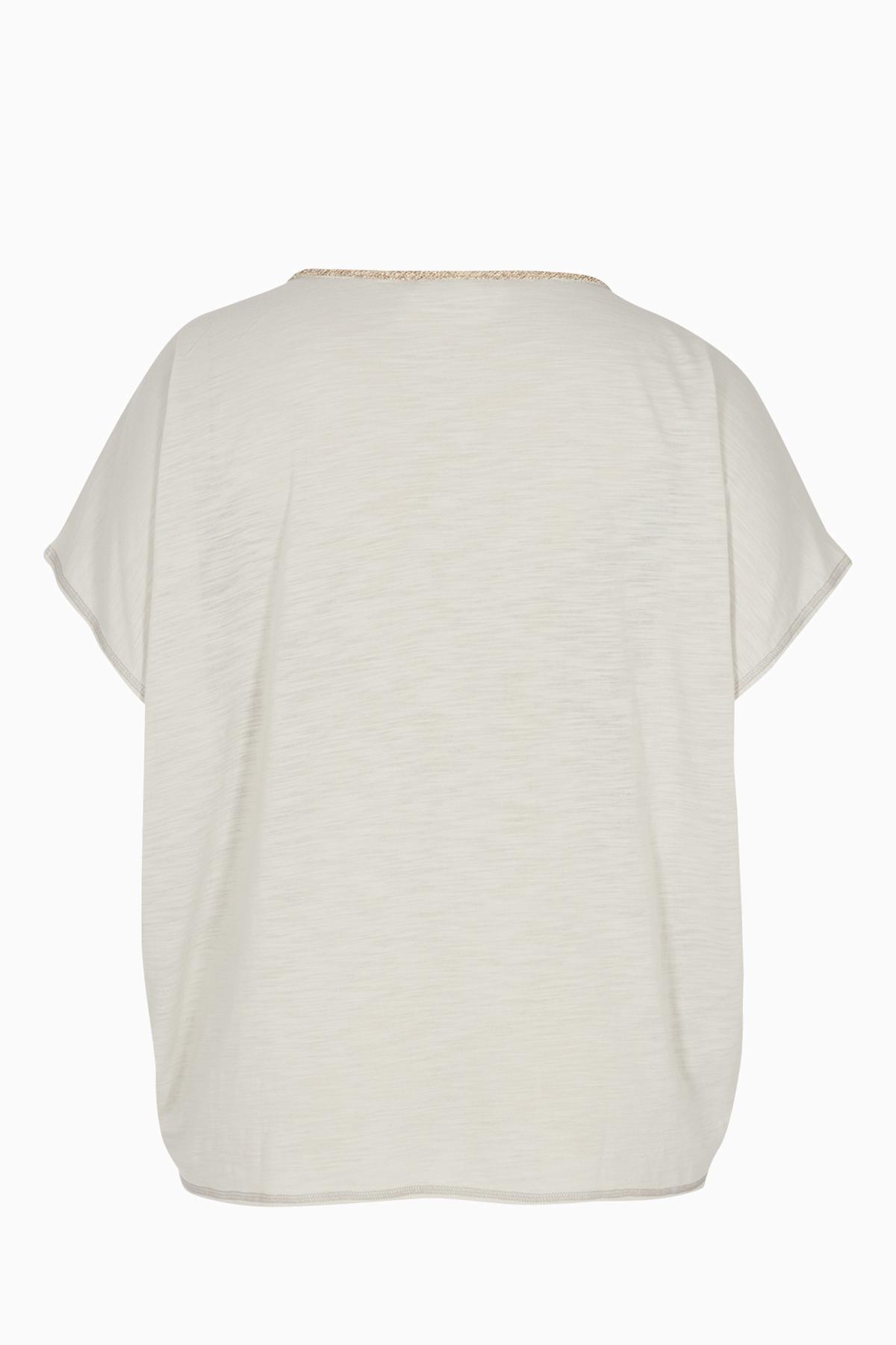 Ljusgrå Kortärmad T-shirt från Zizzi – Köp Ljusgrå Kortärmad T-shirt från stl. 42-44-54-56 här