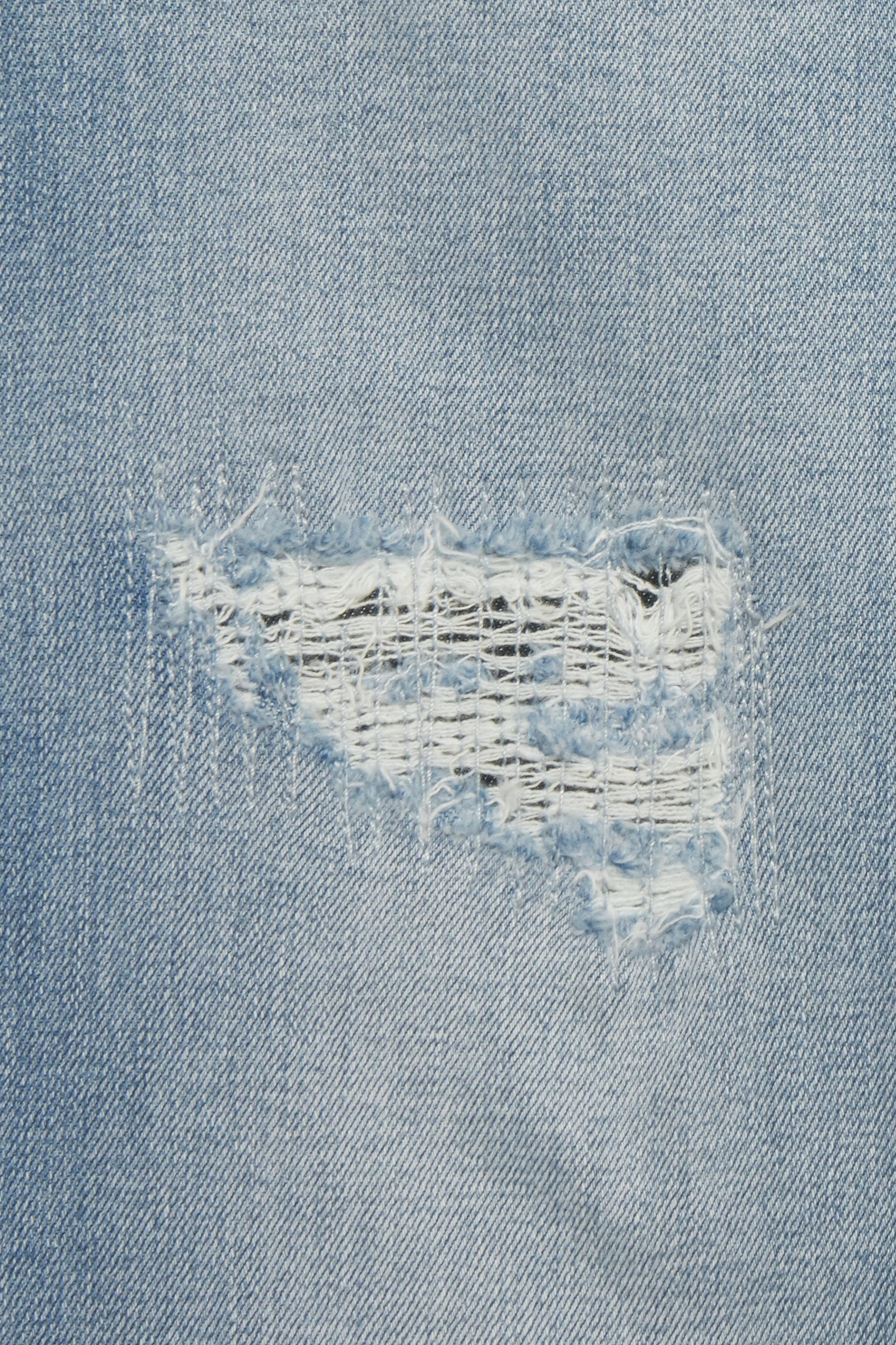 Lys denimblå Ankel-denimbuks fra b.young – Køb Lys denimblå Ankel-denimbuks fra str. 25-36 her