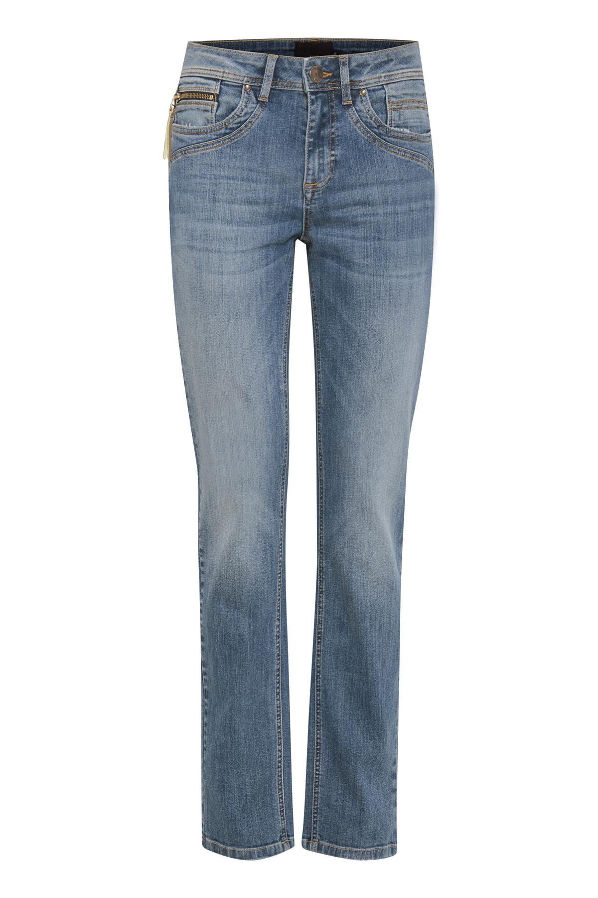 Image of Pulz Jeans Dame Højtaljede jeans - Lys denimblå