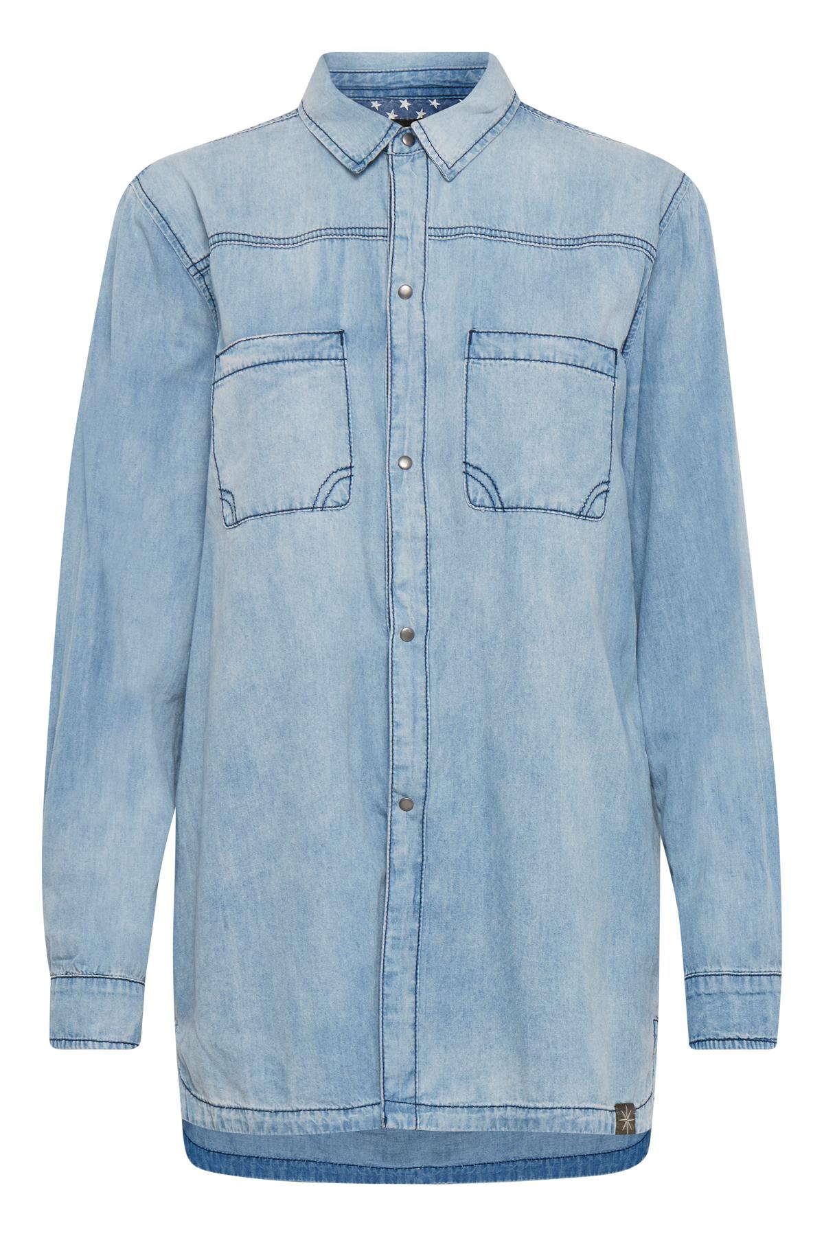 Image of Pulz Jeans Dame Lækker Louisa skjorte - Lys denimblå