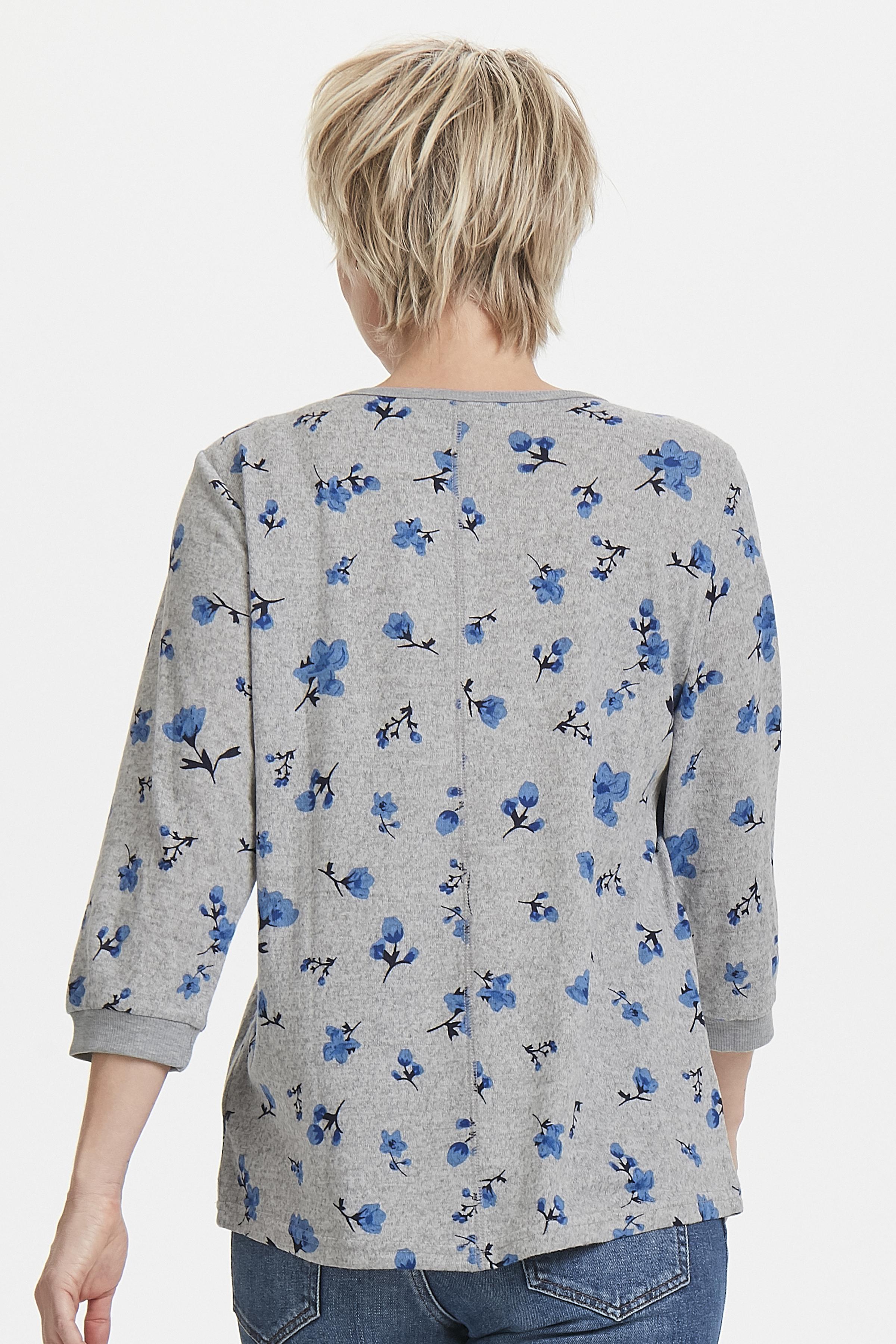 Lys gråmeleret/blå Bluse fra Fransa – Køb Lys gråmeleret/blå Bluse fra str. XS-XXL her