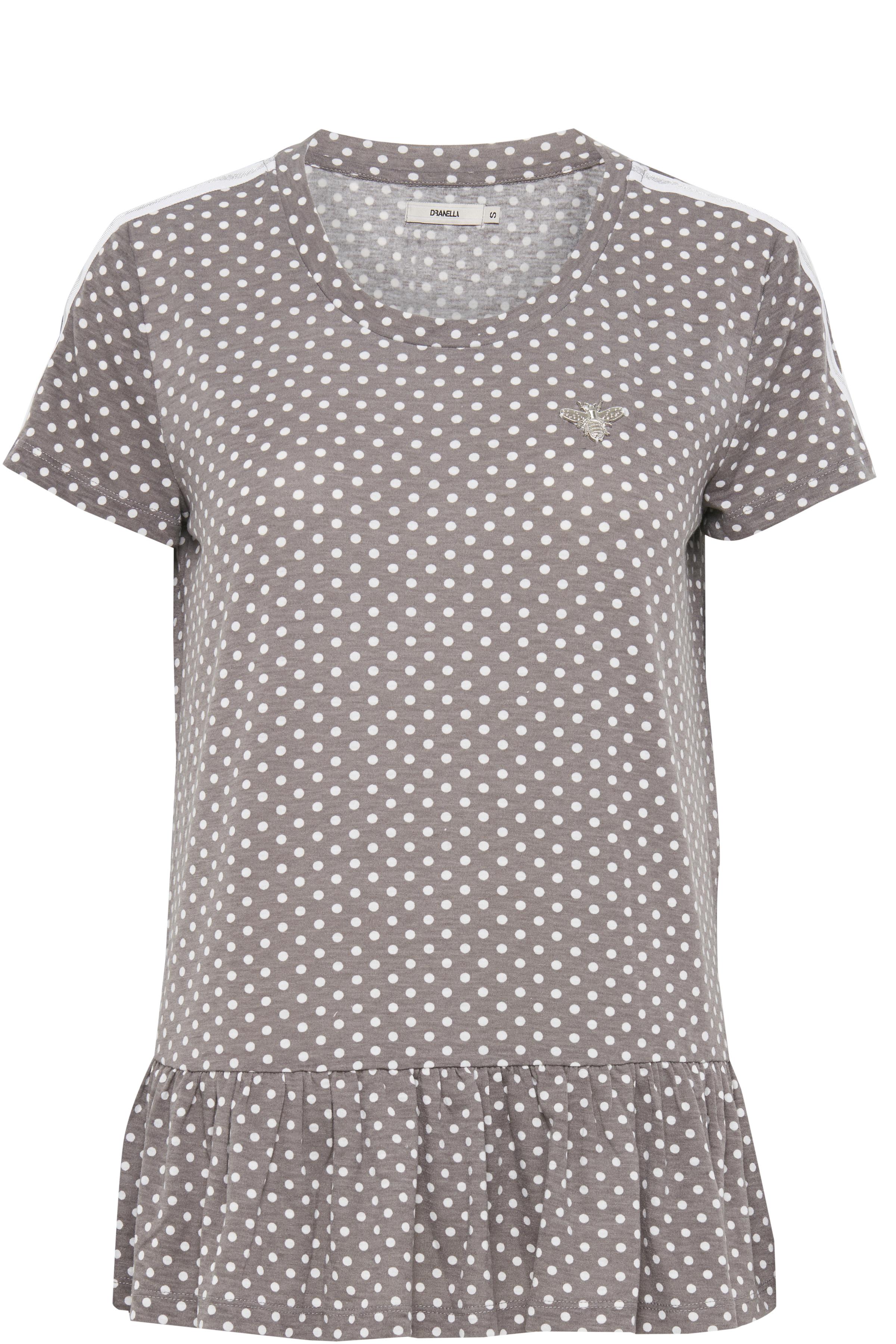 Image of Dranella Dame Kortærmet T-shirt - Lys gråmeleret