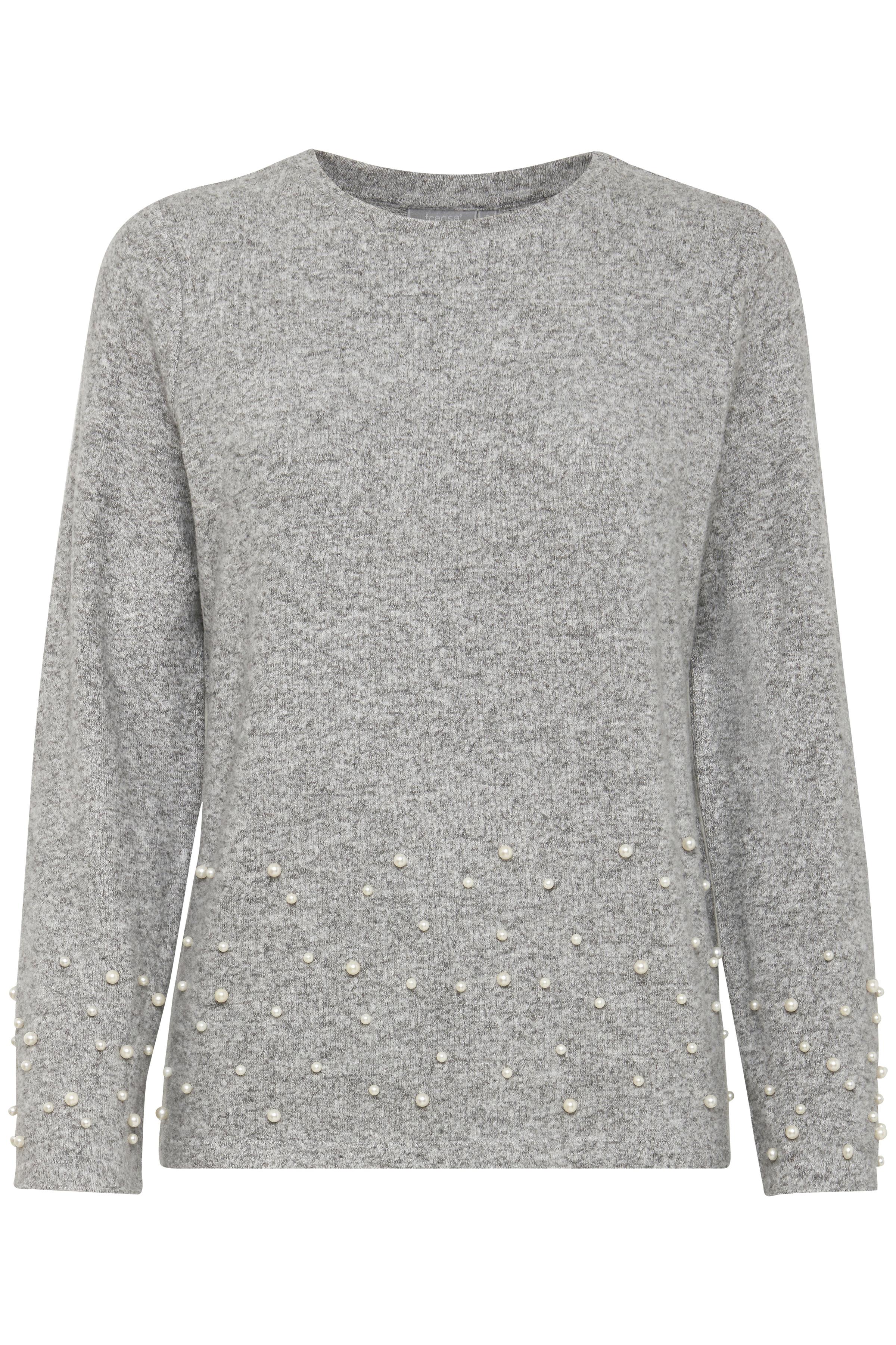 Lys gråmeleret Langærmet T-shirt fra Fransa – Køb Lys gråmeleret Langærmet T-shirt fra str. XS-XXL her