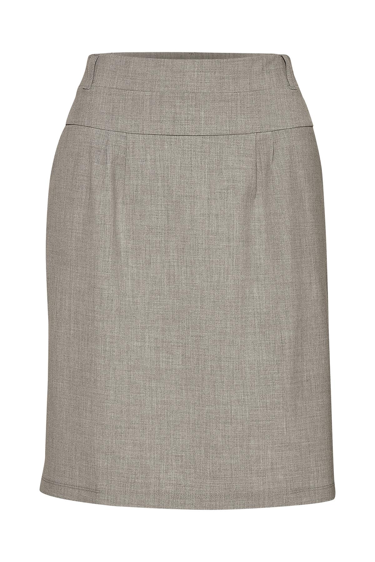 Lys gråmeleret Nederdele fra Kaffe – Køb Lys gråmeleret Nederdele fra str. 32-46 her