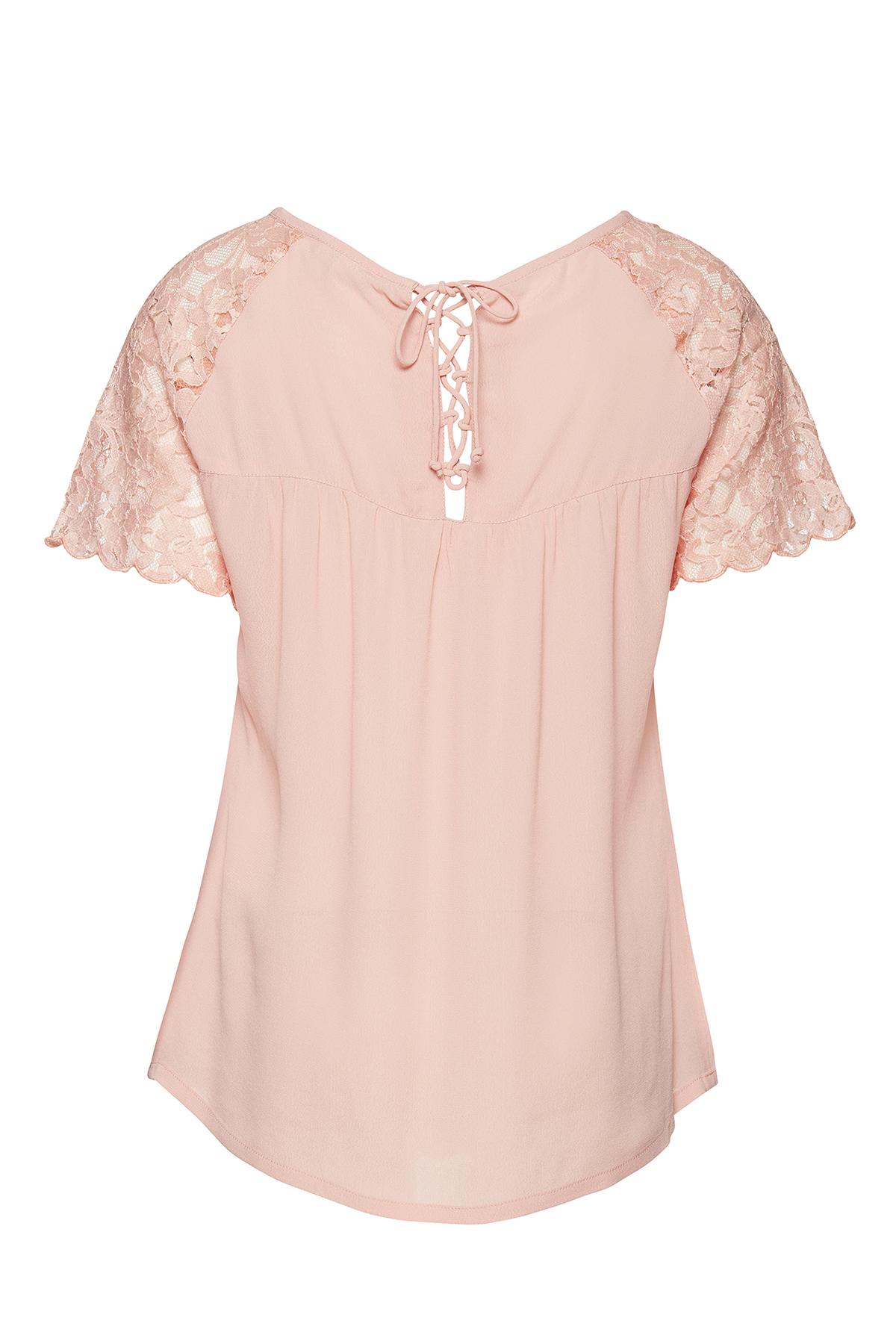 Lys koral Kortærmet T-shirt fra Fransa – Køb Lys koral Kortærmet T-shirt fra str. XS-XXL her