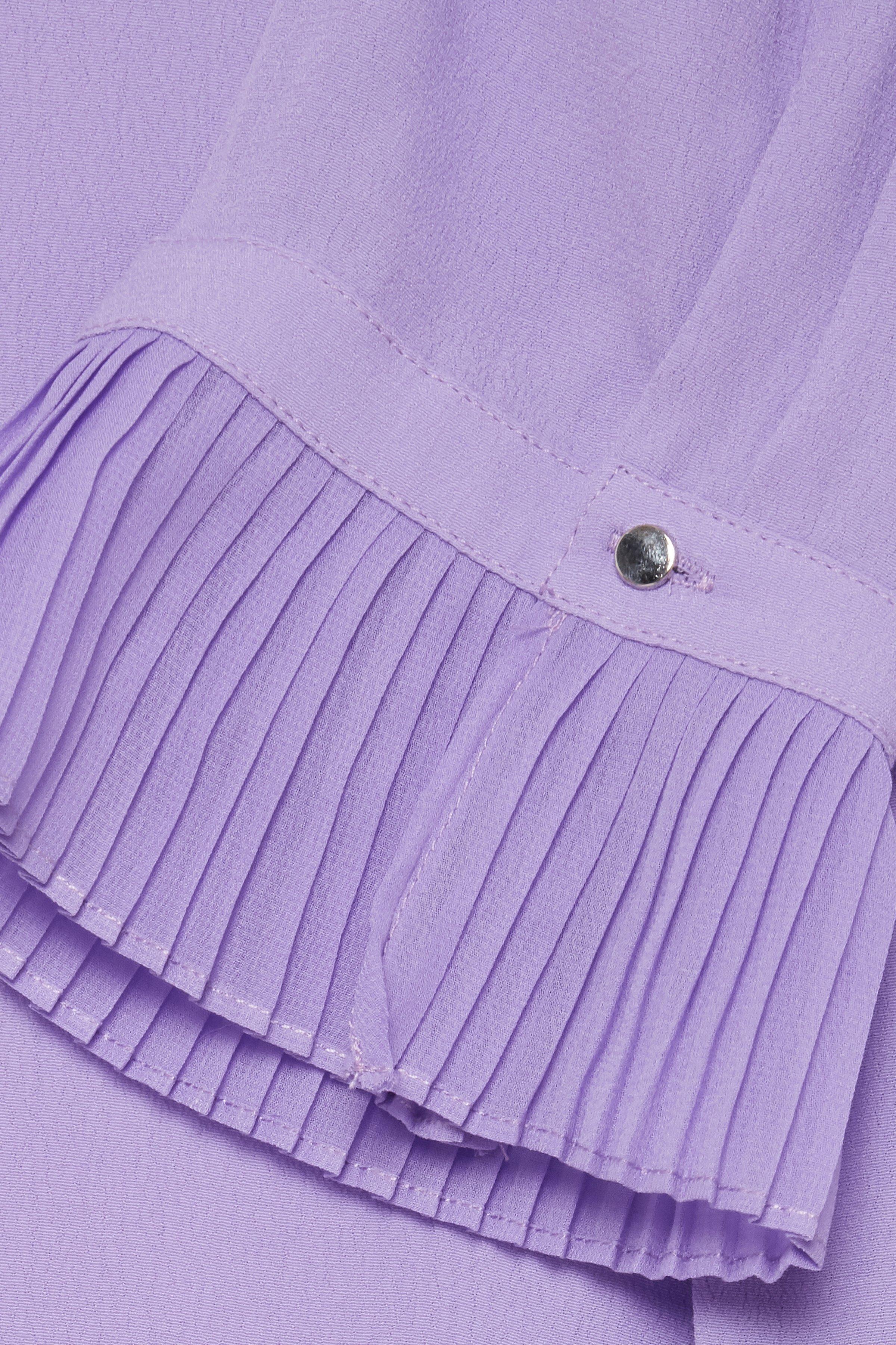 Lys lilla Kortærmet bluse fra Fransa – Køb Lys lilla Kortærmet bluse fra str. XS-XXL her