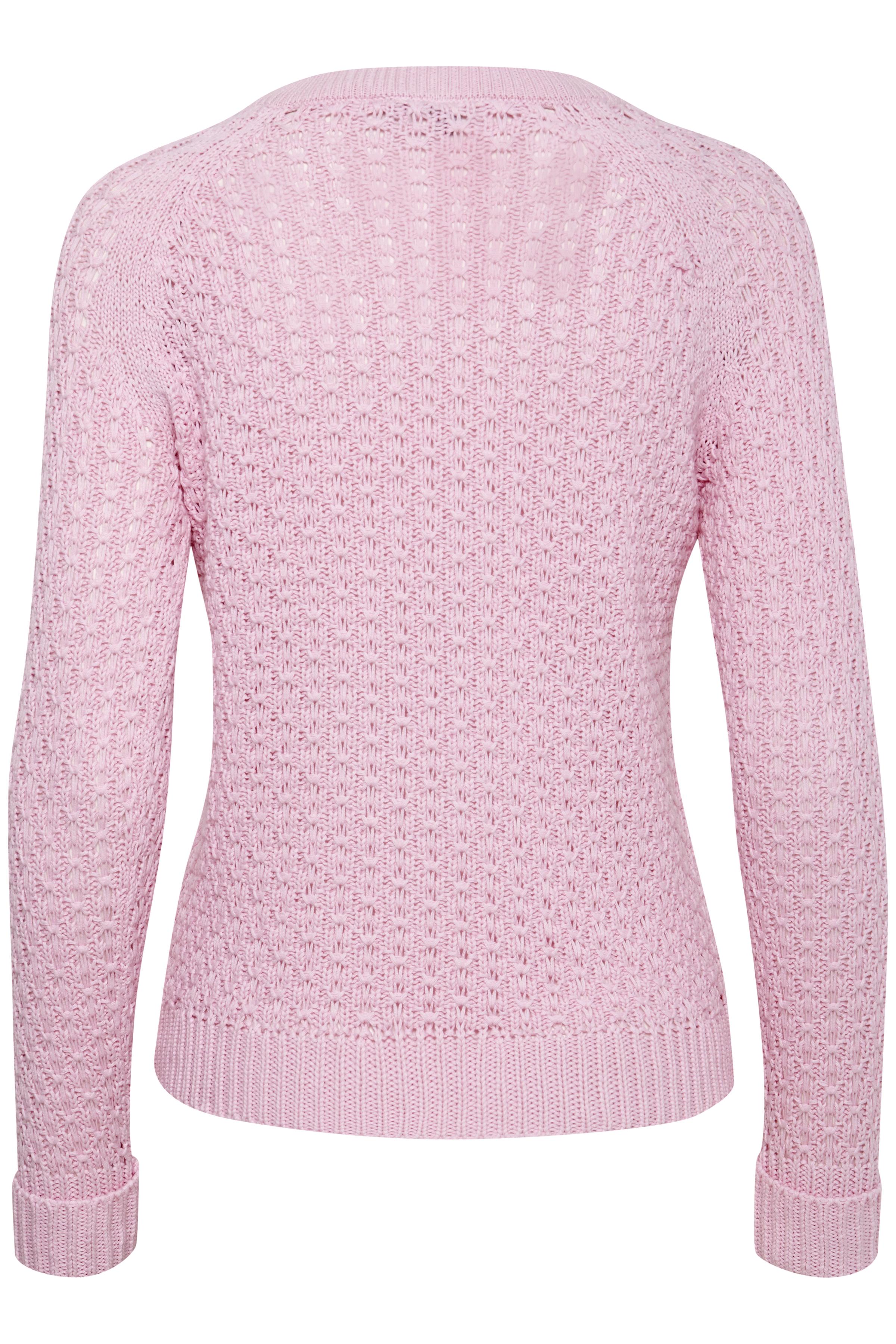 Lys pink Strikbluse fra Fransa – Køb Lys pink Strikbluse fra str. XS-XXL her