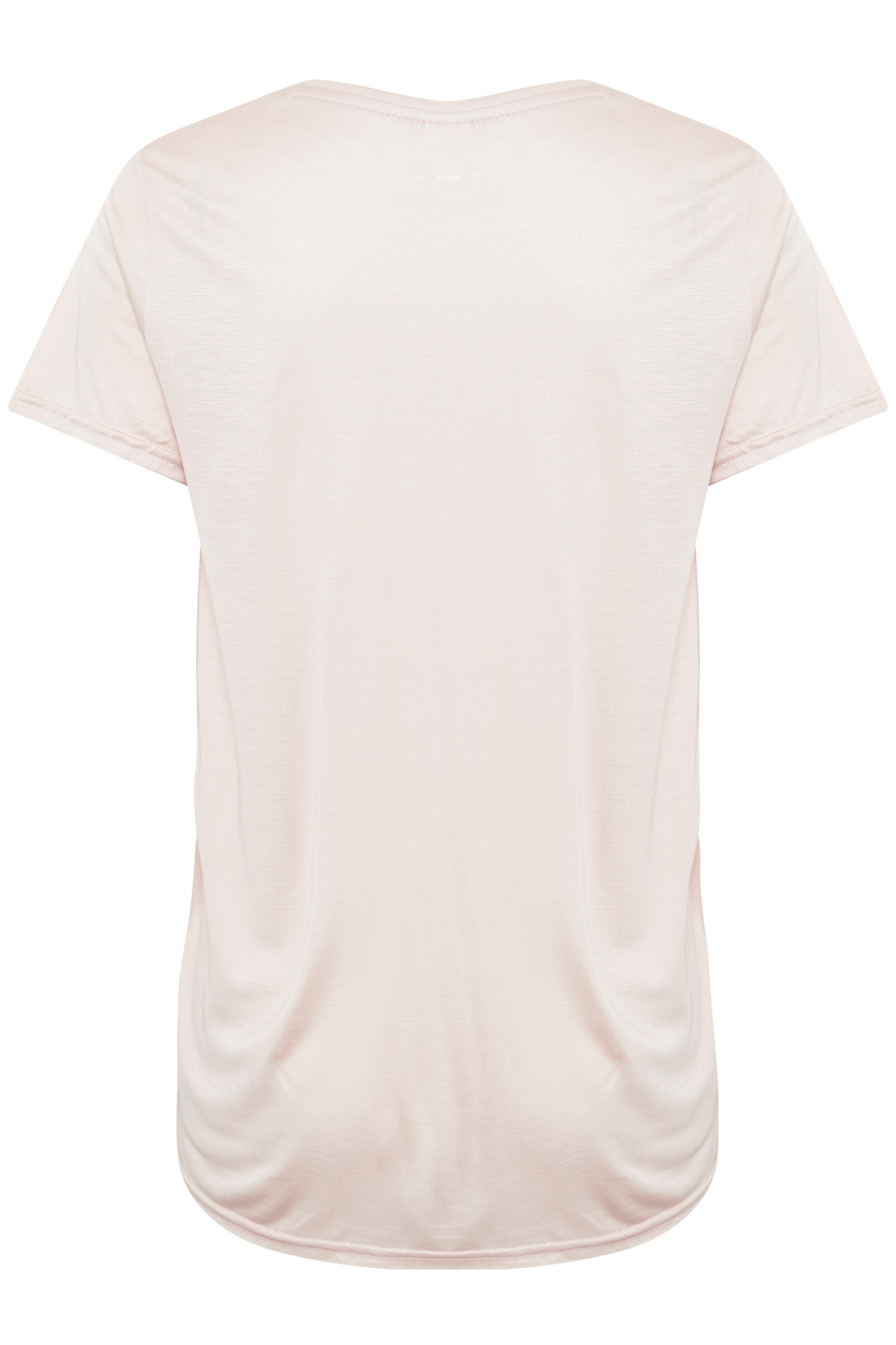 Lys rosa Kortærmet T-shirt fra Kaffe – Køb Lys rosa Kortærmet T-shirt fra str. XS-XXL her