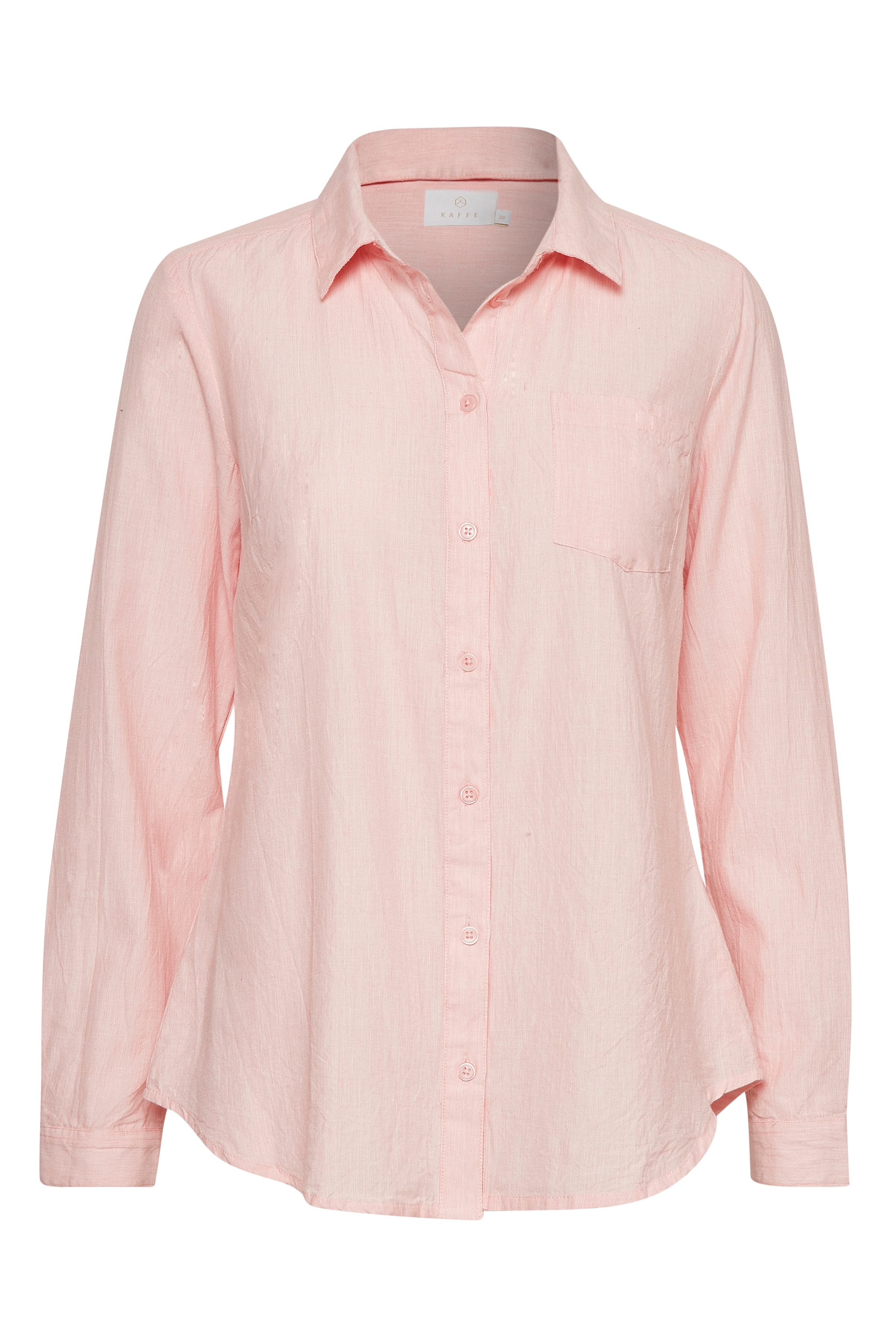 Lys rosa Langærmet skjorte fra Kaffe – Køb Lys rosa Langærmet skjorte fra str. 34-46 her