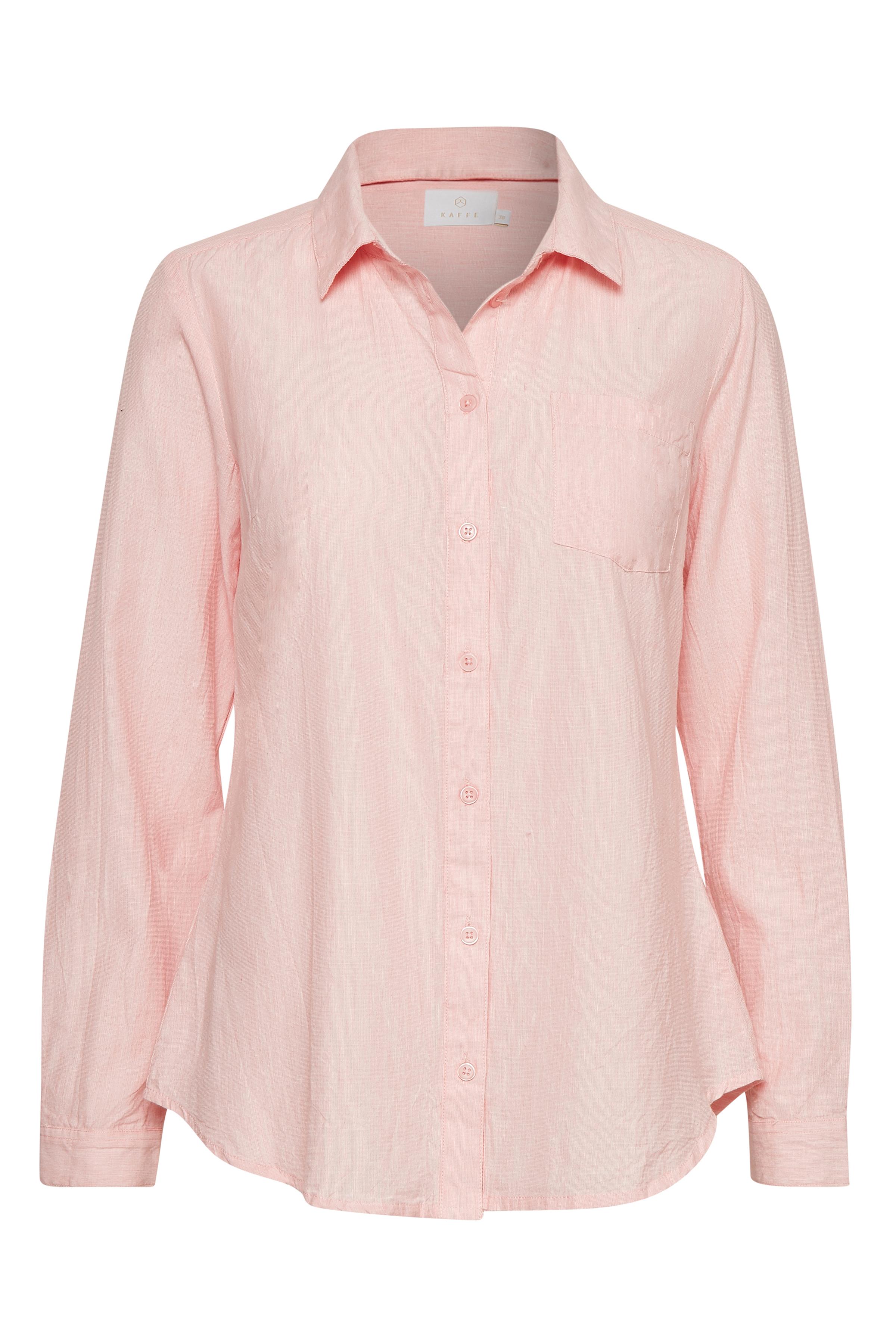 Image of Kaffe Dame Langærmet skjorte - Lys rosa