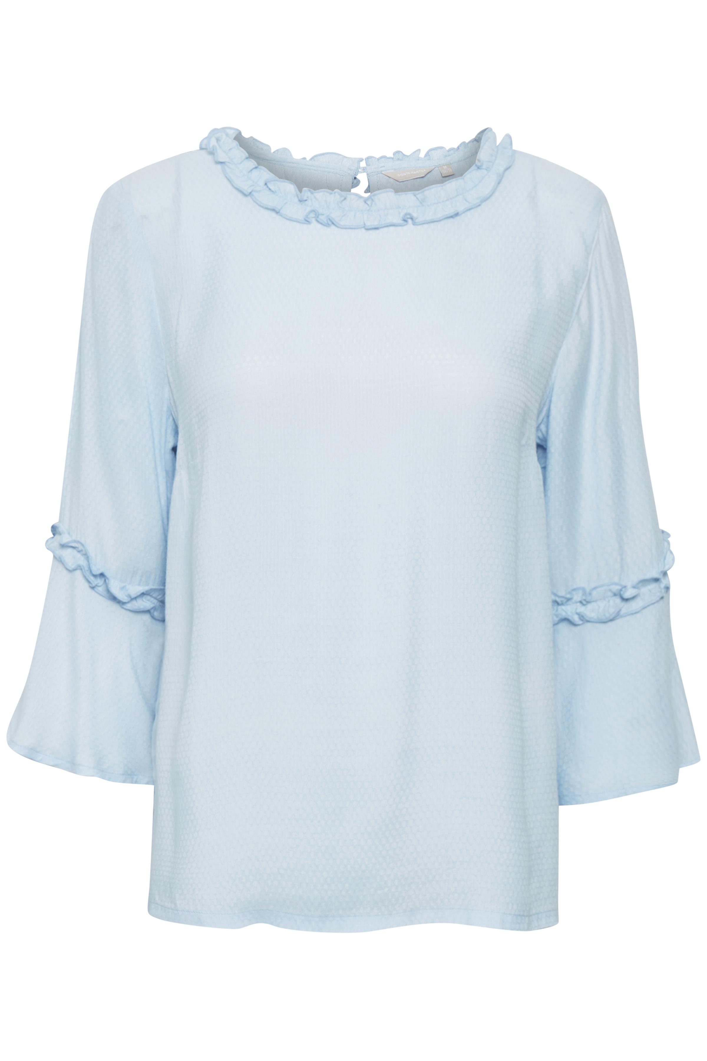 Lyseblå Bluse fra Bon'A Parte – Køb Lyseblå Bluse fra str. S-2XL her