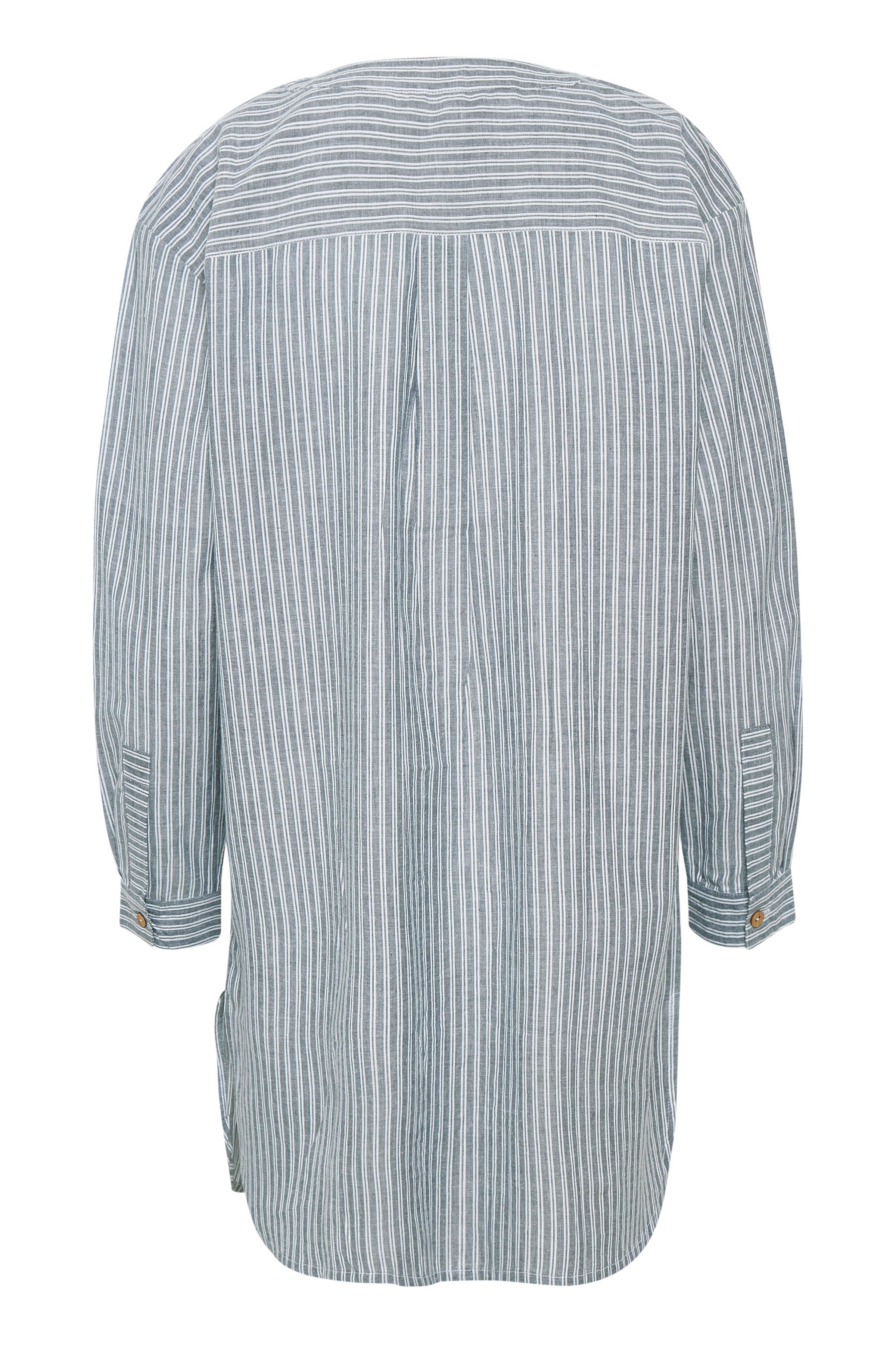 Lyseblå/hvid Tunika fra Bon'A Parte – Køb Lyseblå/hvid Tunika fra str. S-2XL her