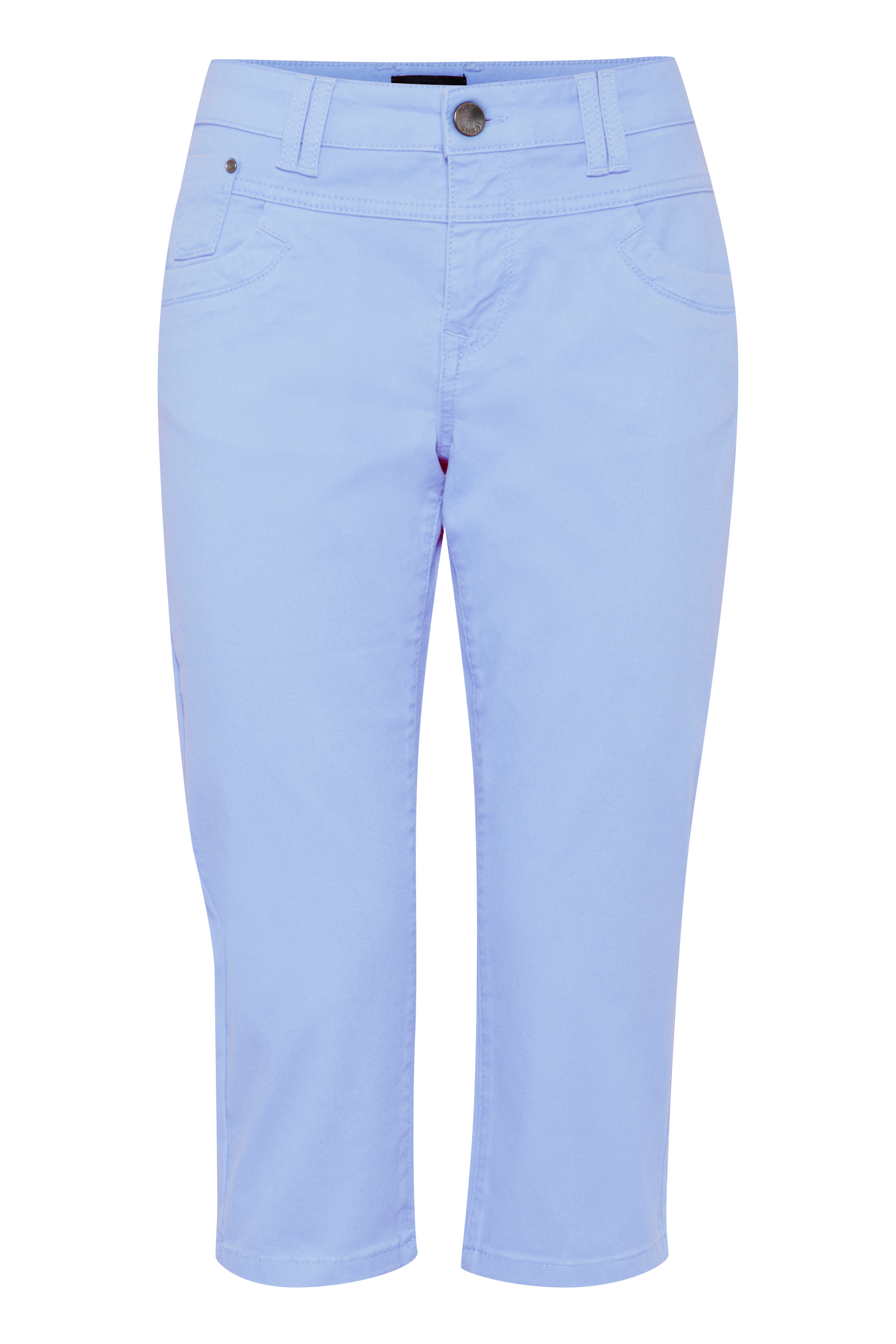 Image of Pulz Jeans Dame 5-lommet capri bukser - Lyseblå