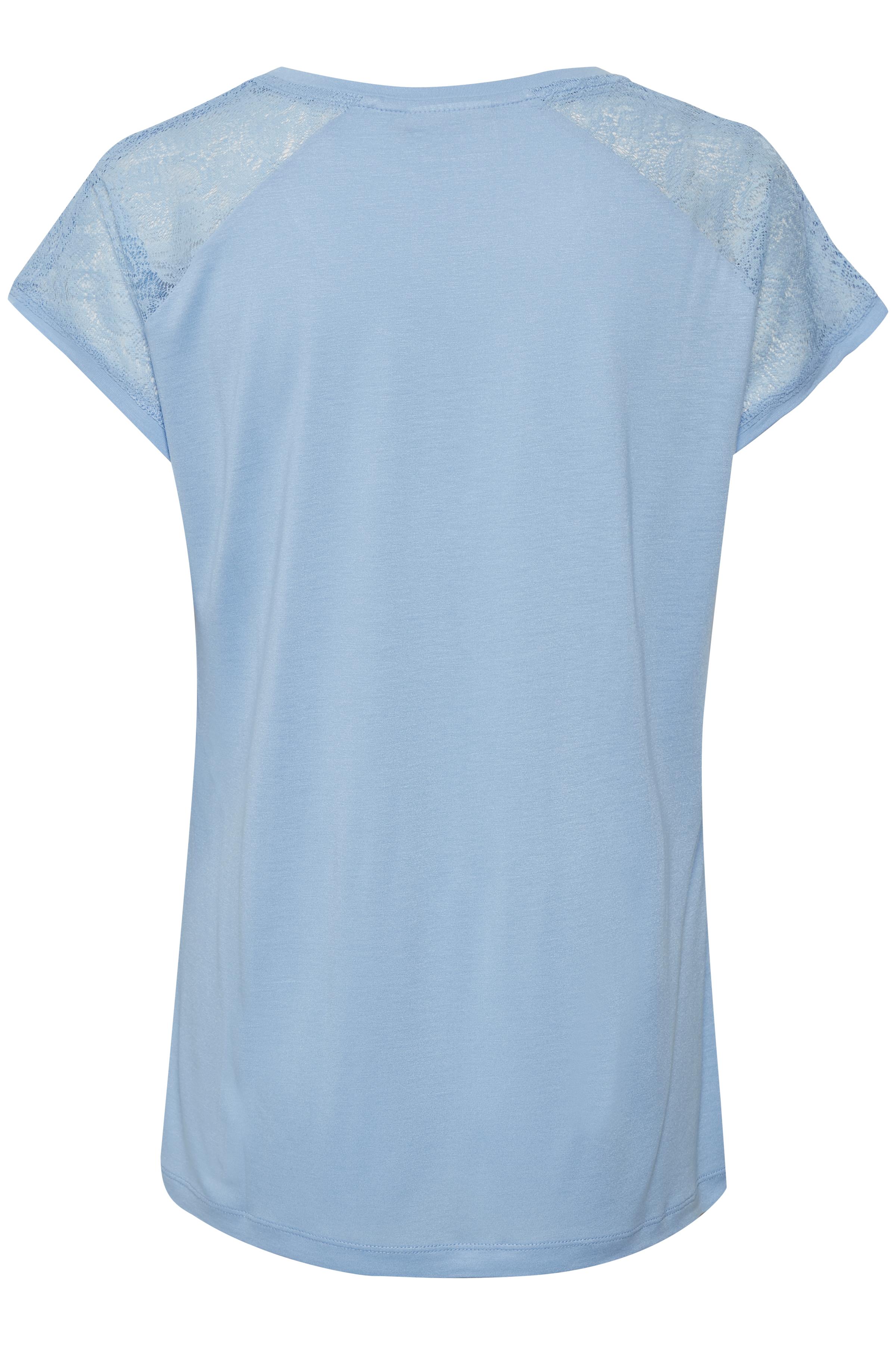Lyseblå Kortærmet T-shirt fra Kaffe – Køb Lyseblå Kortærmet T-shirt fra str. XS-XXL her