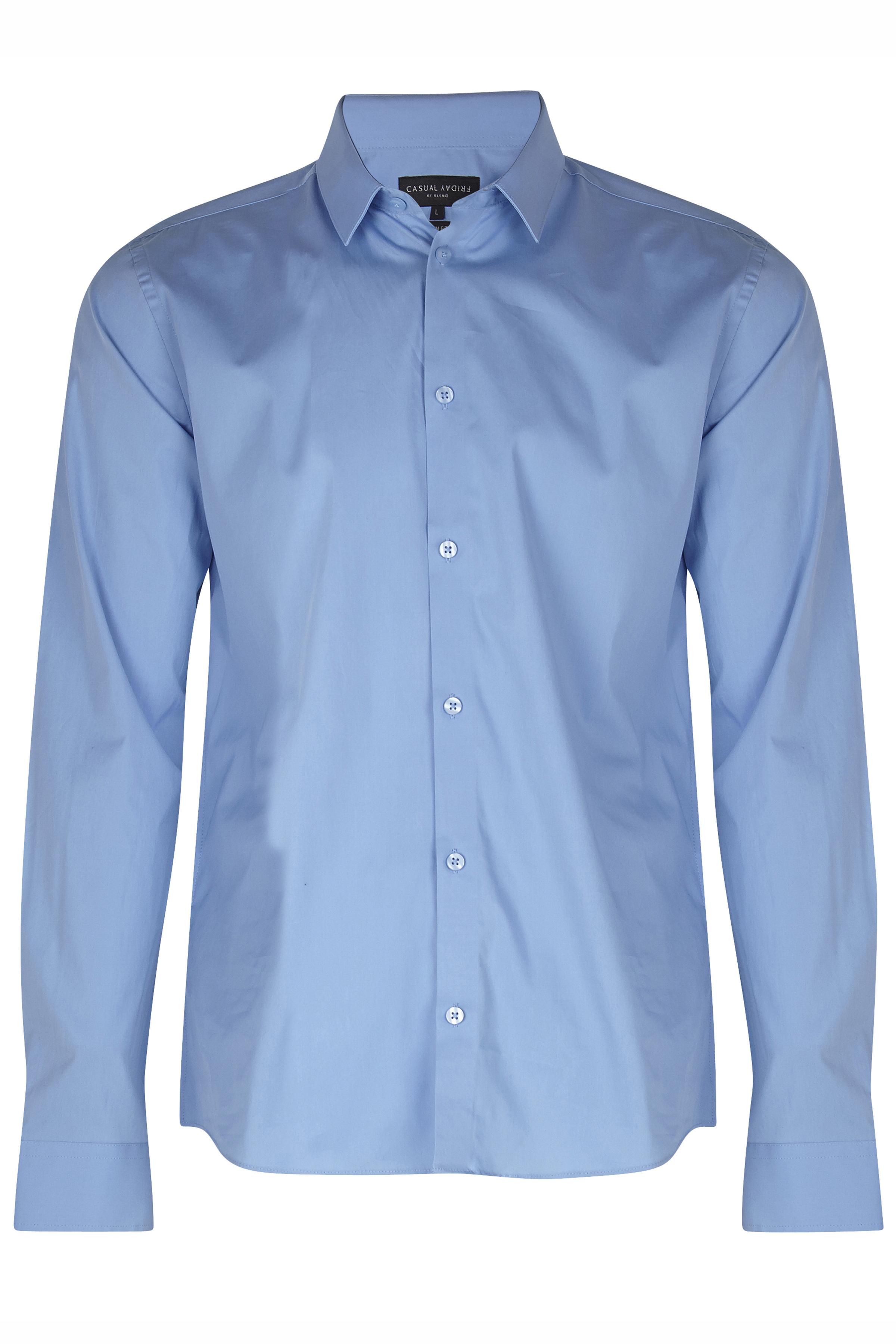 Lyseblå Langærmet skjorte fra Casual Friday – Køb Lyseblå Langærmet skjorte fra str. XXS-3XL her