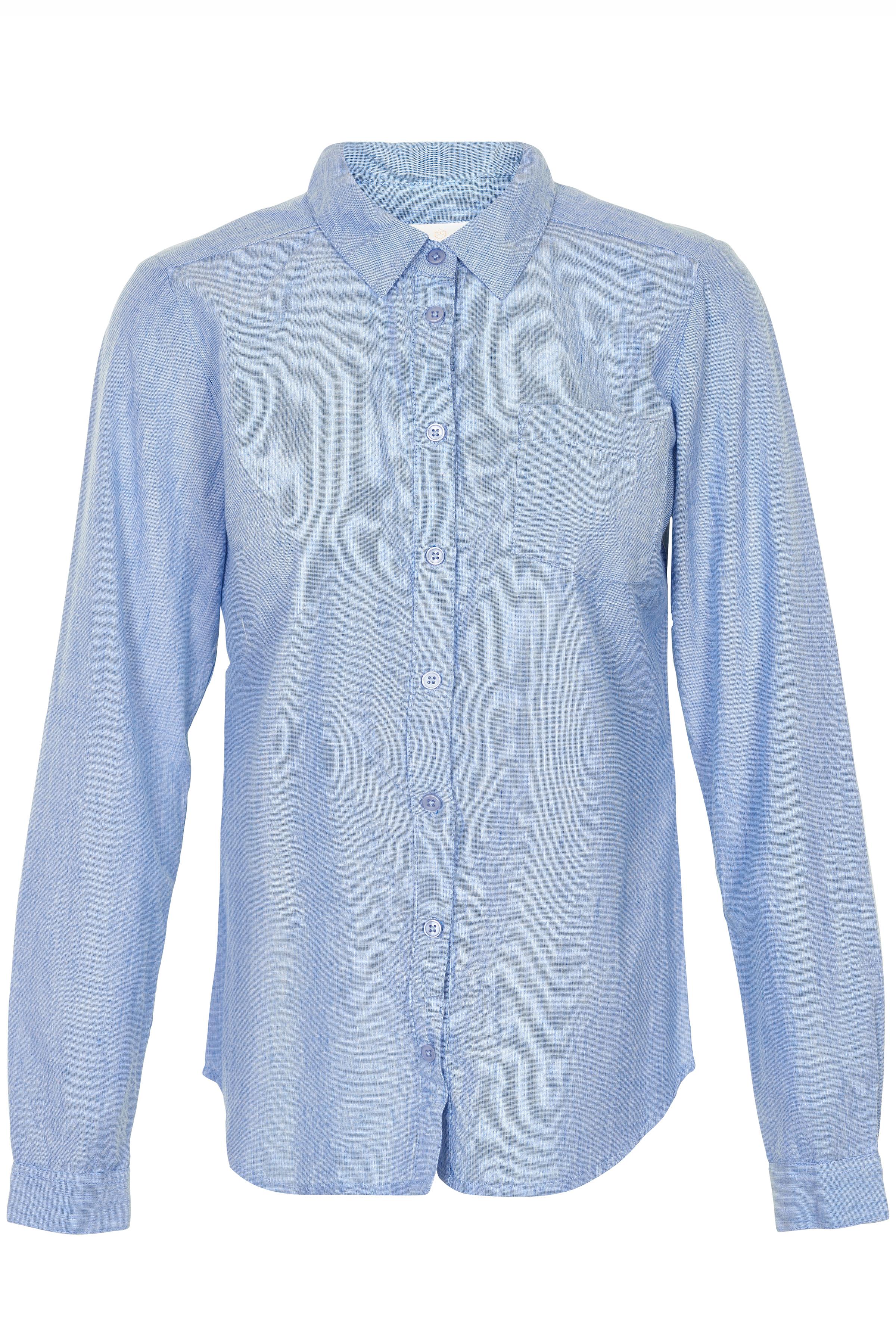 Lyseblå Langærmet skjorte fra Kaffe – Køb Lyseblå Langærmet skjorte fra str. 34-46 her