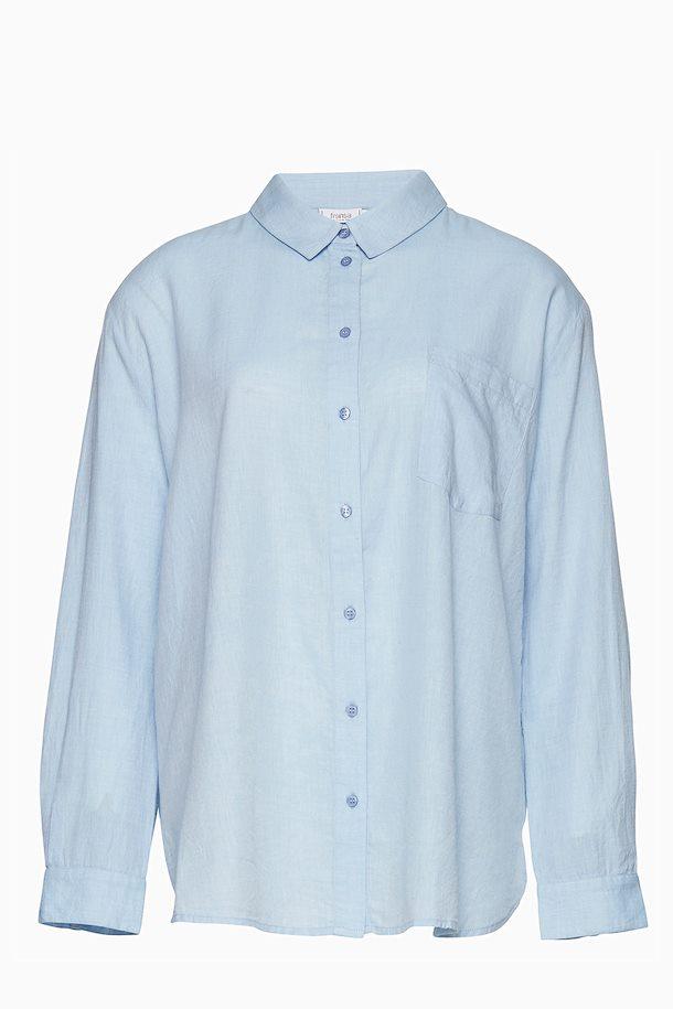 39162528cc07 Lyseblå Langærmet skjorte fra Fransa – Køb Lyseblå Langærmet skjorte fra str.  XS-XXL her