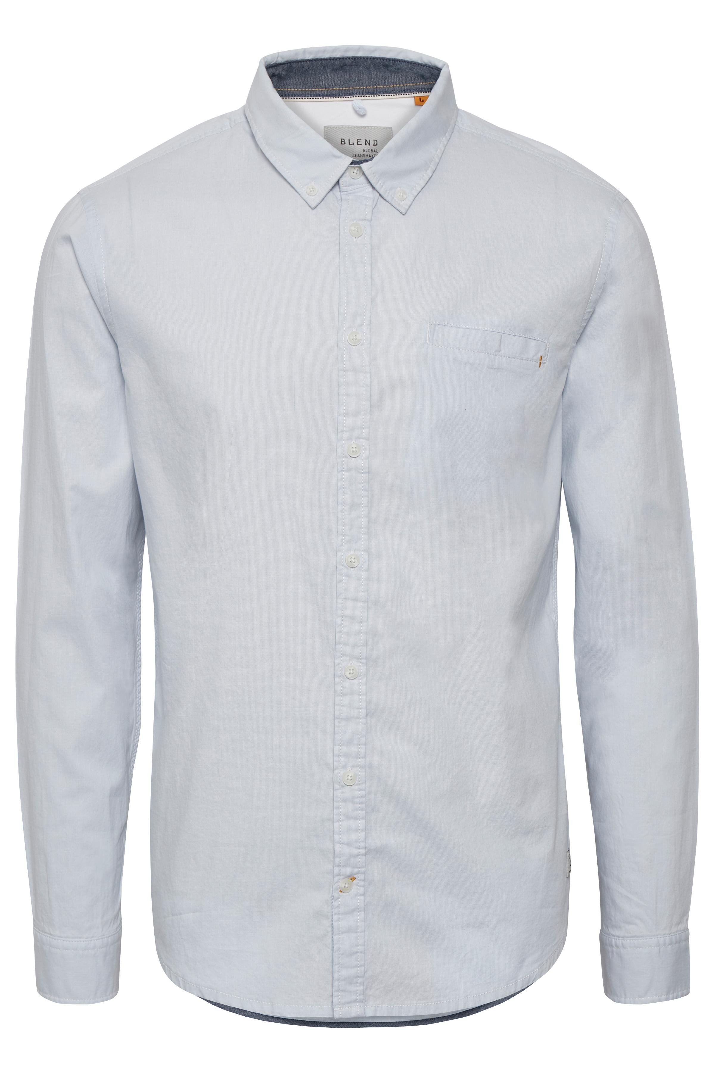 Image of Blend He Herre Klassisk og tidsløs skjorte - Lyseblå