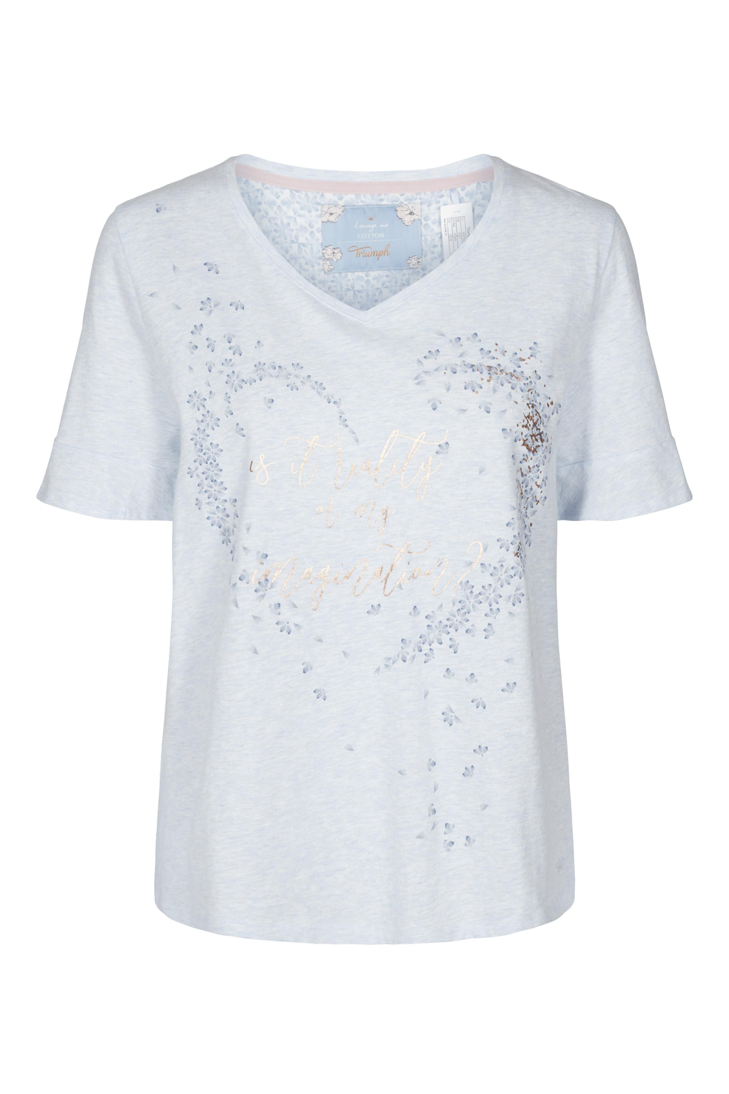 Image of Triumph Dame Homewear sæt - Lyseblå/off-white