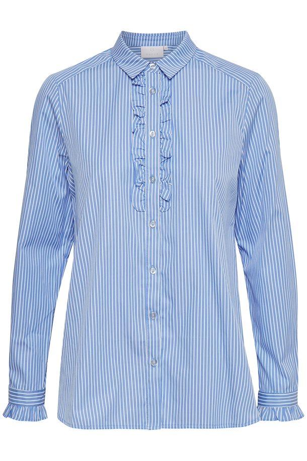 b83660878d74 Lyseblå off-white Langærmet skjorte fra Kaffe – Køb Lyseblå off-white  Langærmet skjorte fra str.