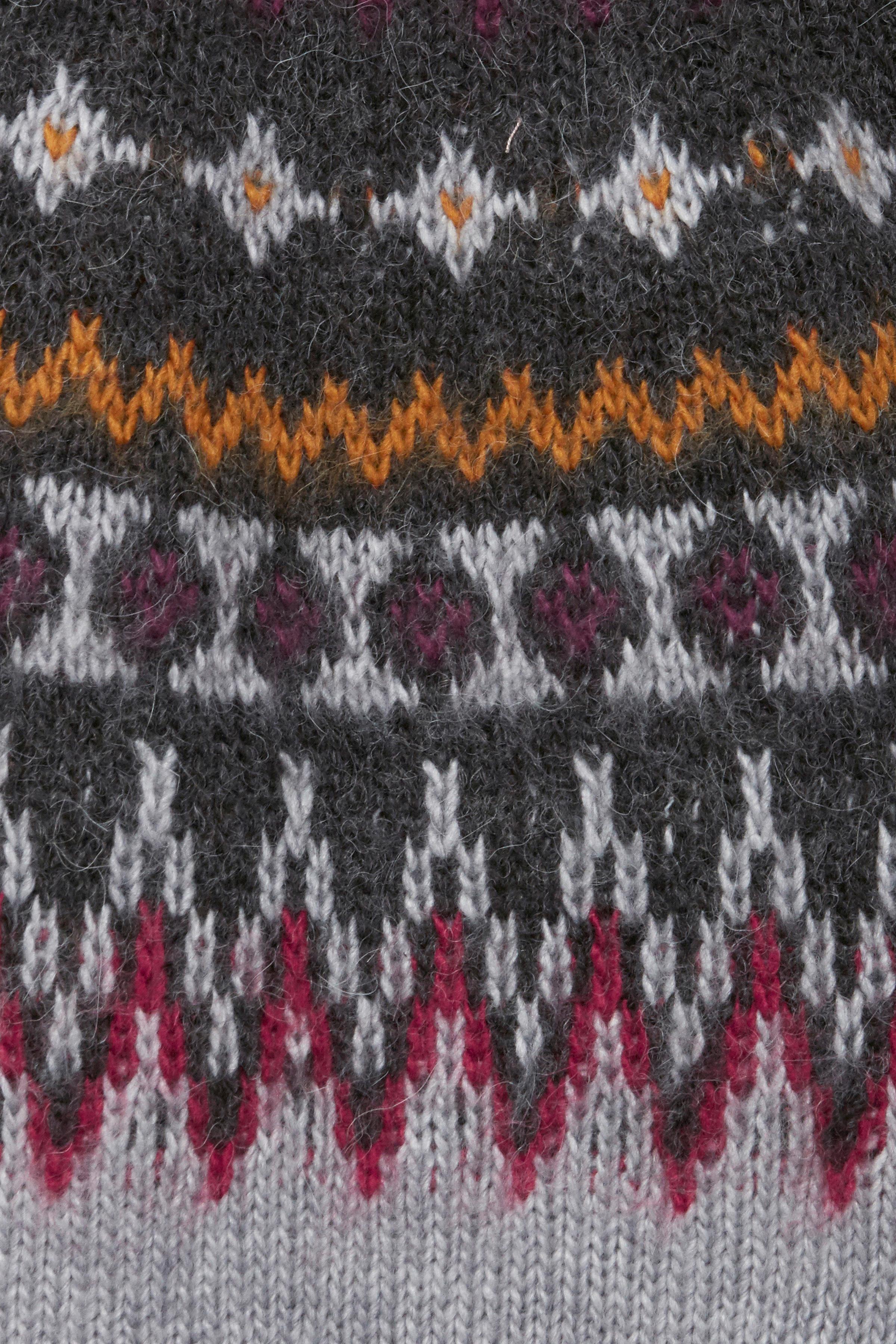 Lysegrå/mørkegrå Strikpullover fra Pulz Jeans – Køb Lysegrå/mørkegrå Strikpullover fra str. XS-XXL her