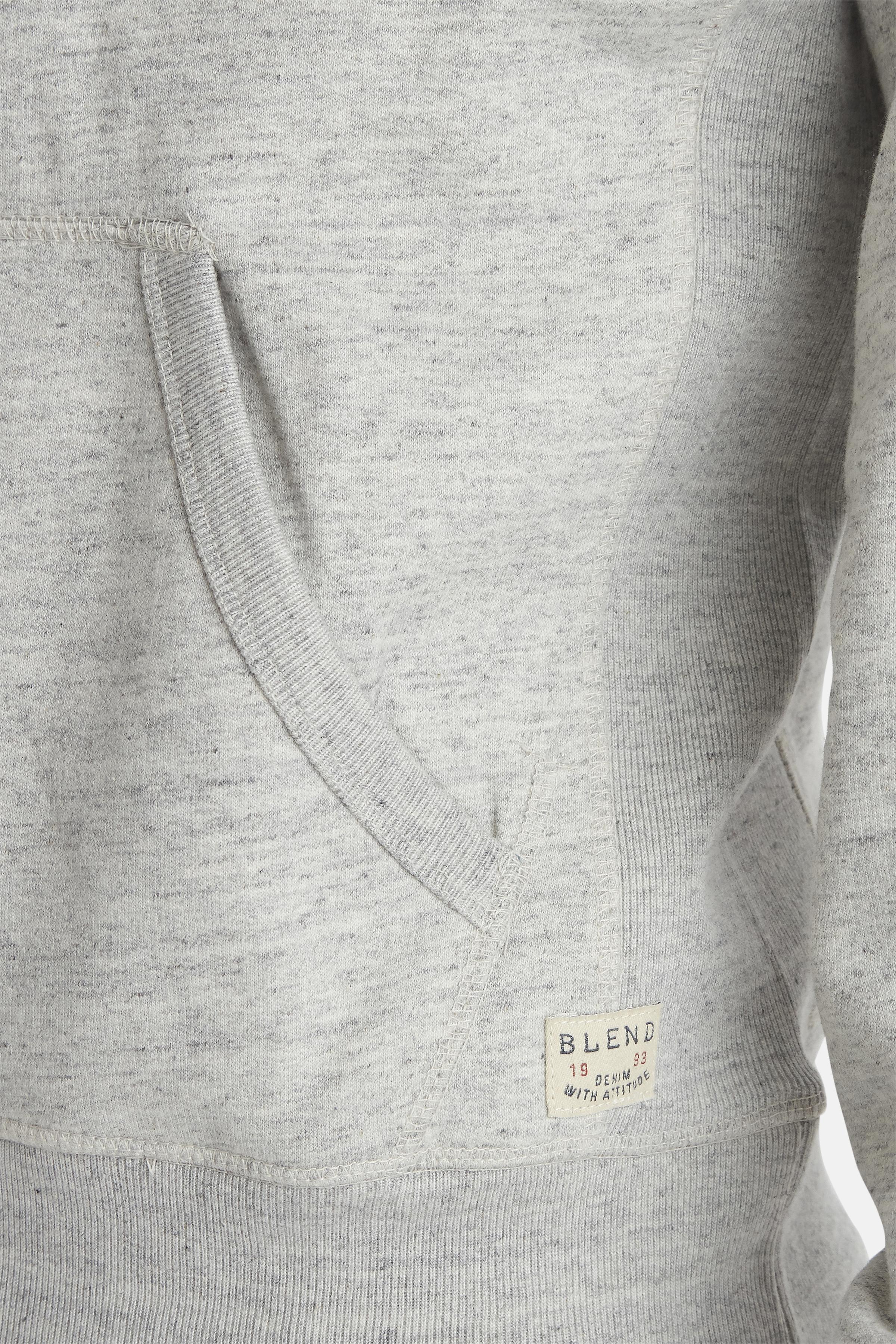 Lysegrå Sweatshirt fra Blend He – Køb Lysegrå Sweatshirt fra str. S-3XL her