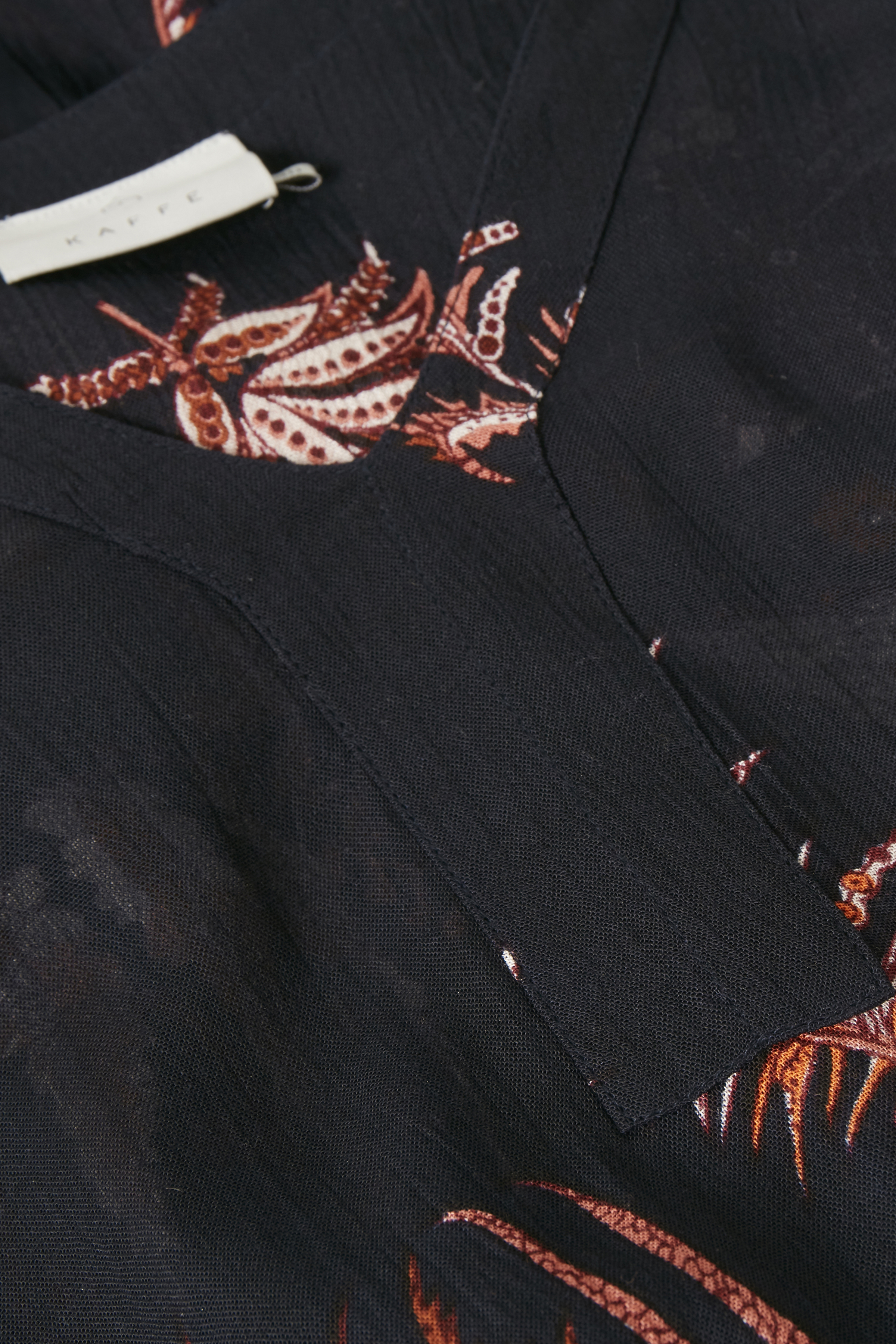 Marinblå/bränd orange Tunika från Kaffe – Köp Marinblå/bränd orange Tunika från stl. 34-46 här