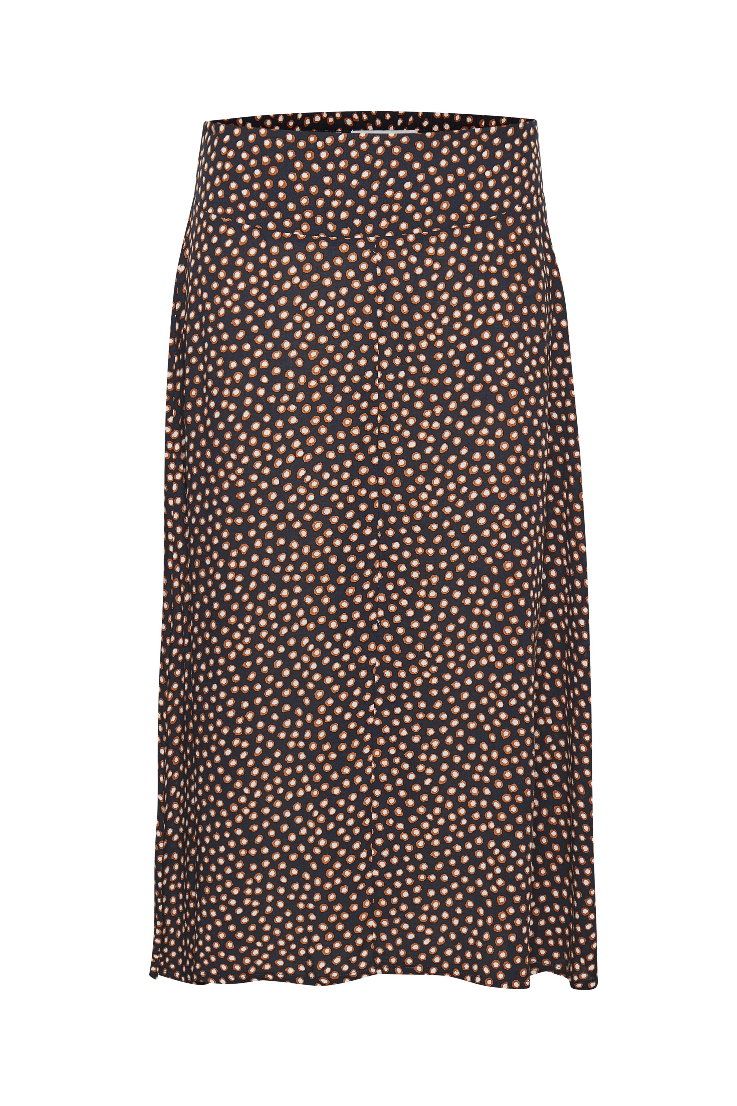 Marinblå/brun Kjol från Cream – Köp Marinblå/brun Kjol från stl. 34-46 här
