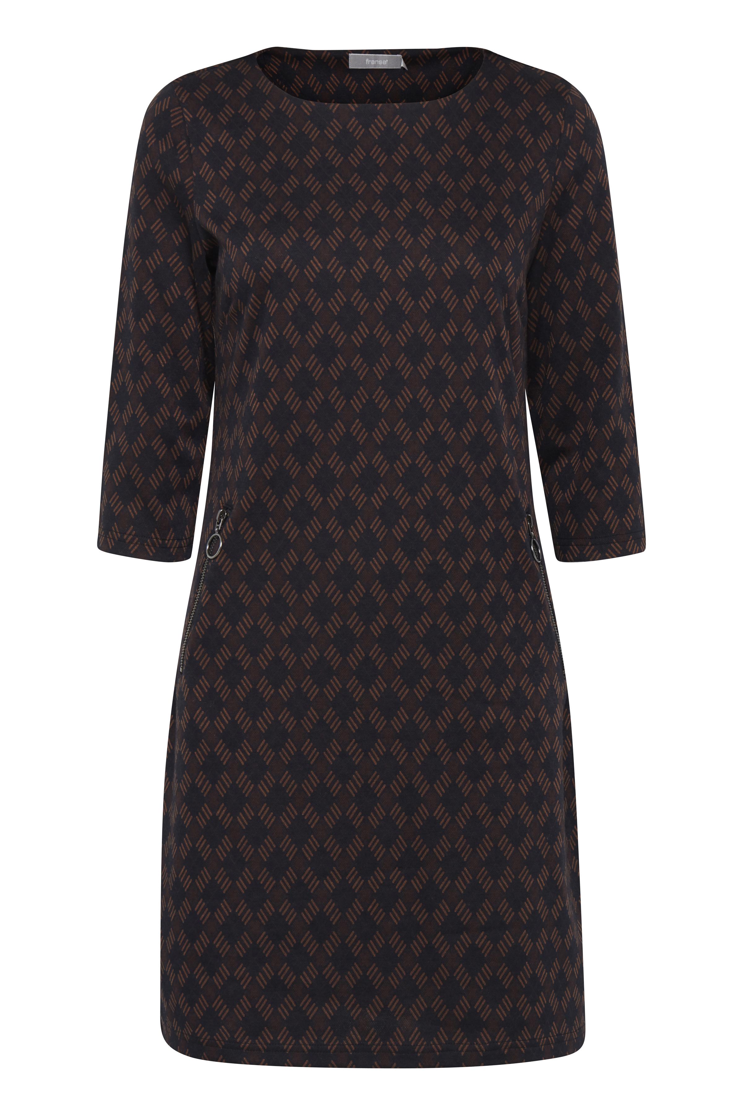 Marinblå/brun Klänning från Fransa – Köp Marinblå/brun Klänning från stl. XS-XXL här