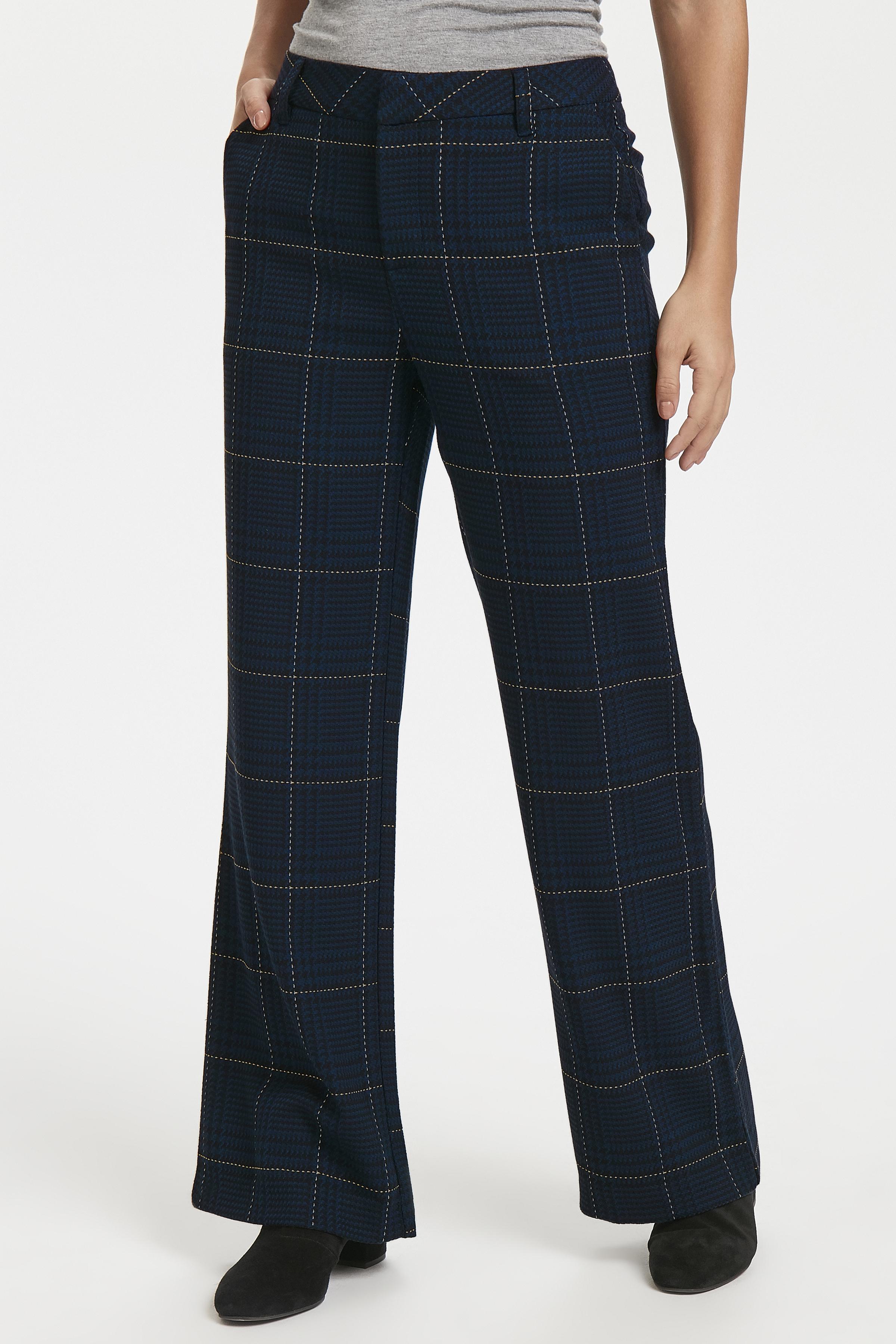 Marinblå Casual byxor från Pulz Jeans – Köp Marinblå Casual byxor från stl. 32-46 här