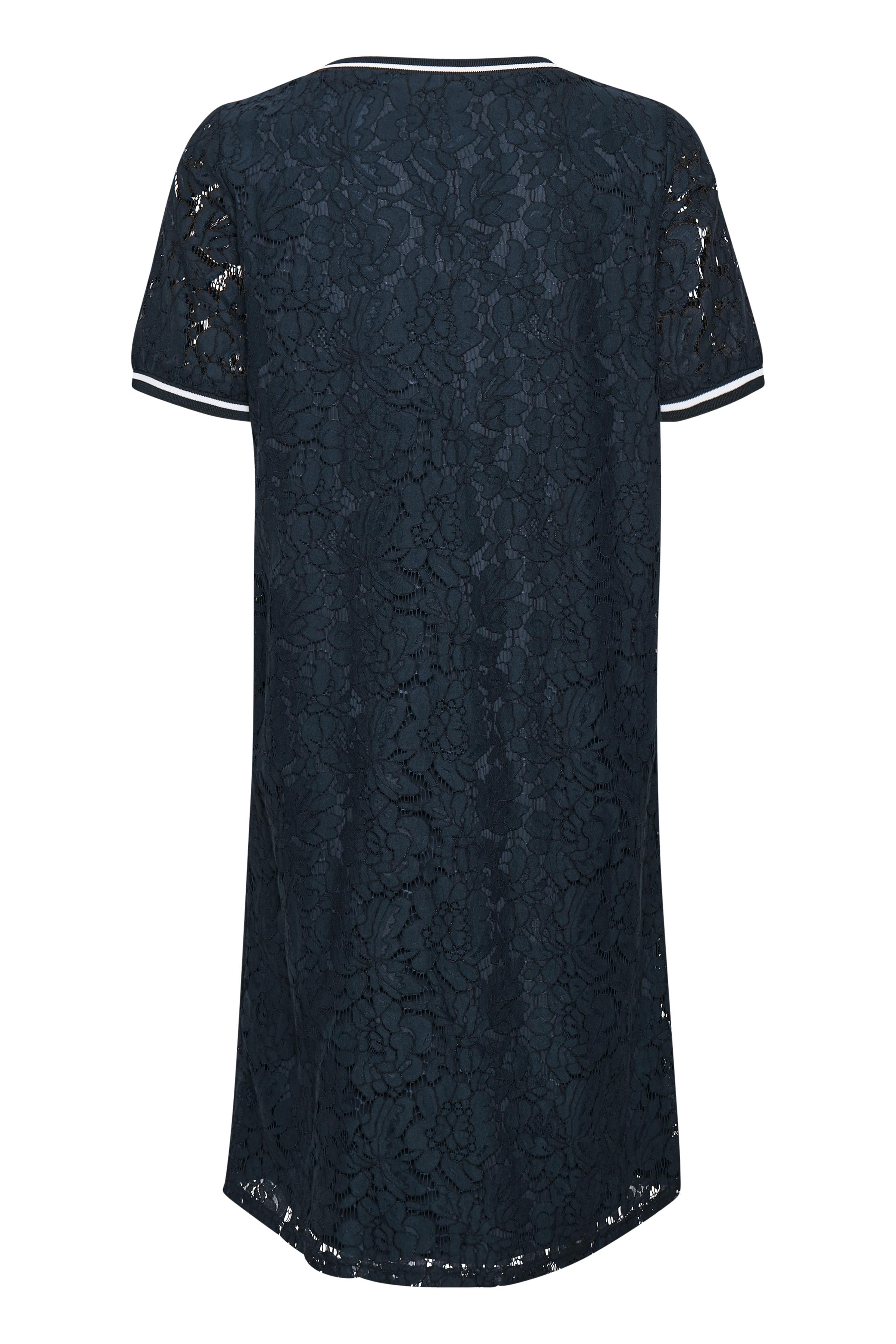Marinblå Klänning från Bon'A Parte – Köp Marinblå Klänning från stl. S-2XL här