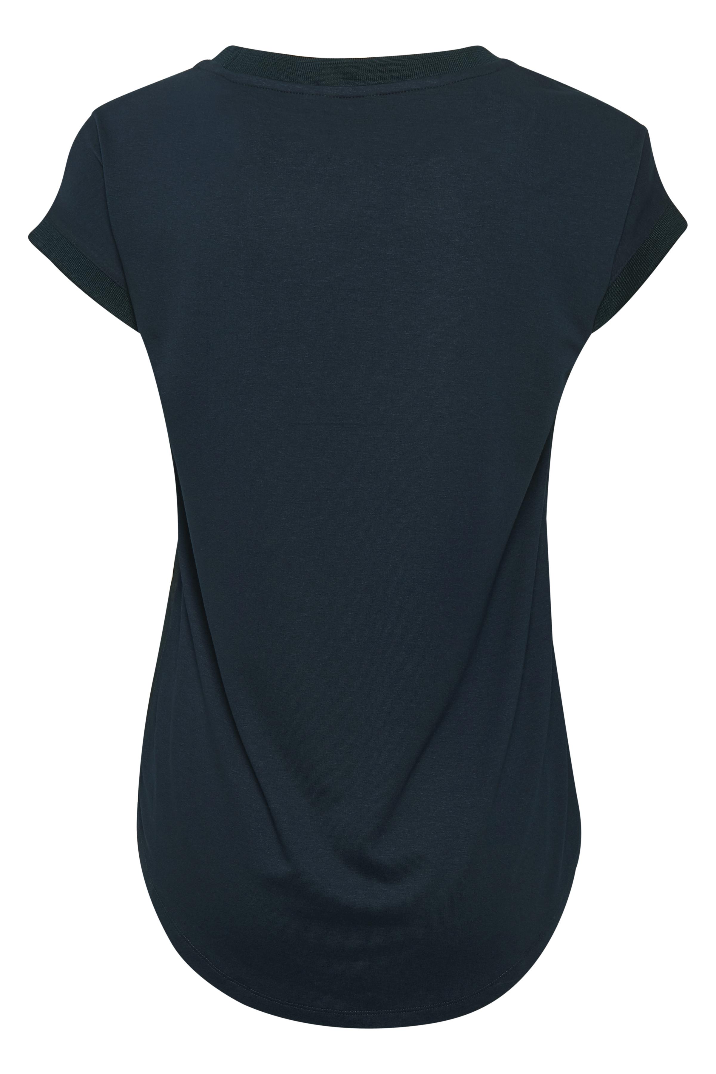 Marinblå Kortärmad blus från Bon'A Parte – Köp Marinblå Kortärmad blus från stl. S-2XL här