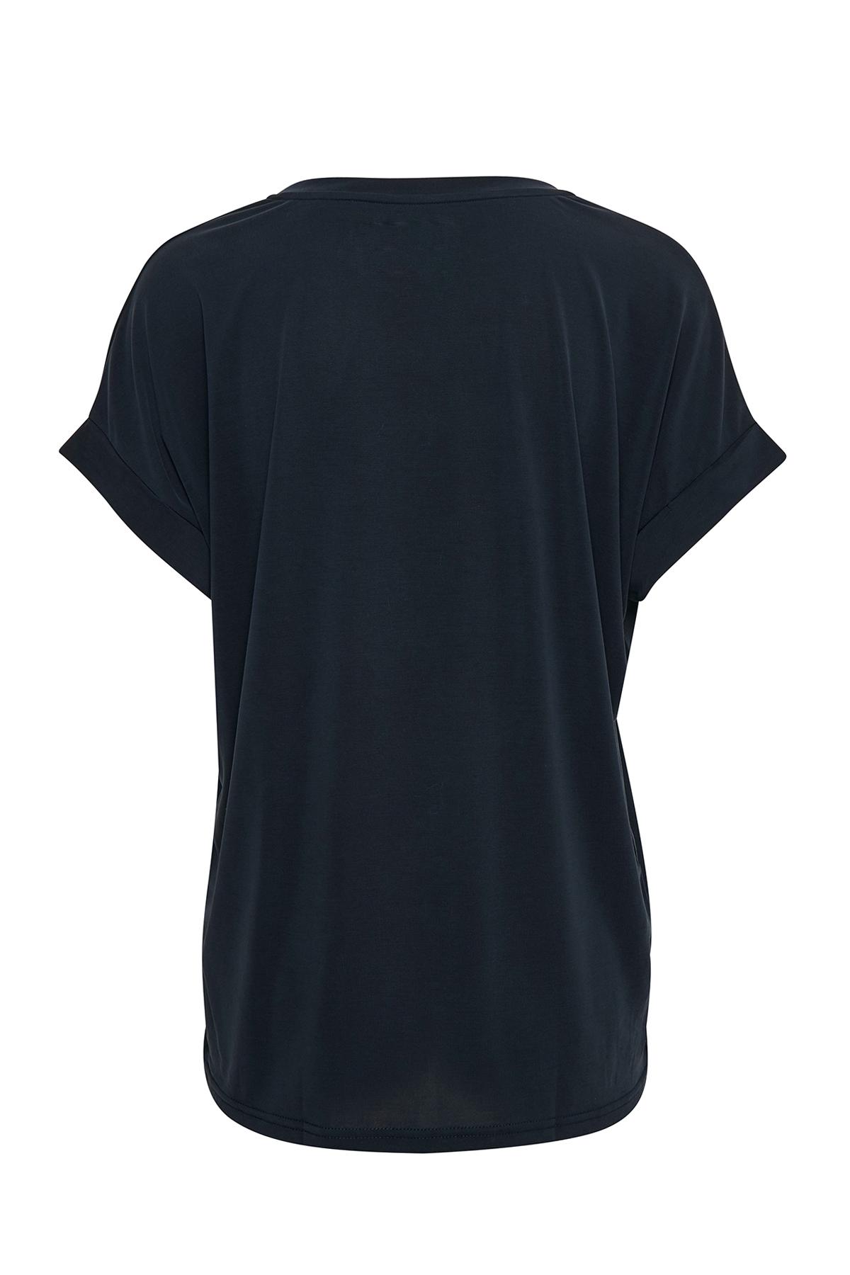 Marinblå Kortärmad T-shirt från Culture – Köp Marinblå Kortärmad T-shirt från stl. XS-XXL här