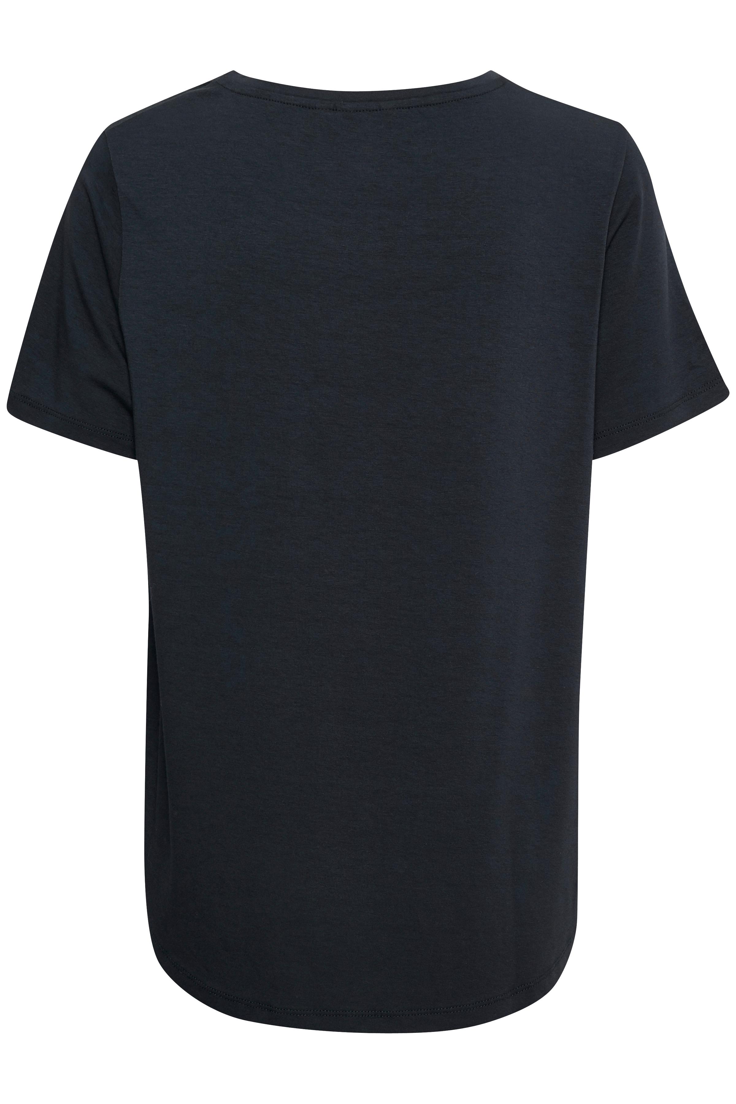 Marinblå Kortärmad T-shirt  från Bon'A Parte – Köp Marinblå Kortärmad T-shirt  från stl. S-2XL här
