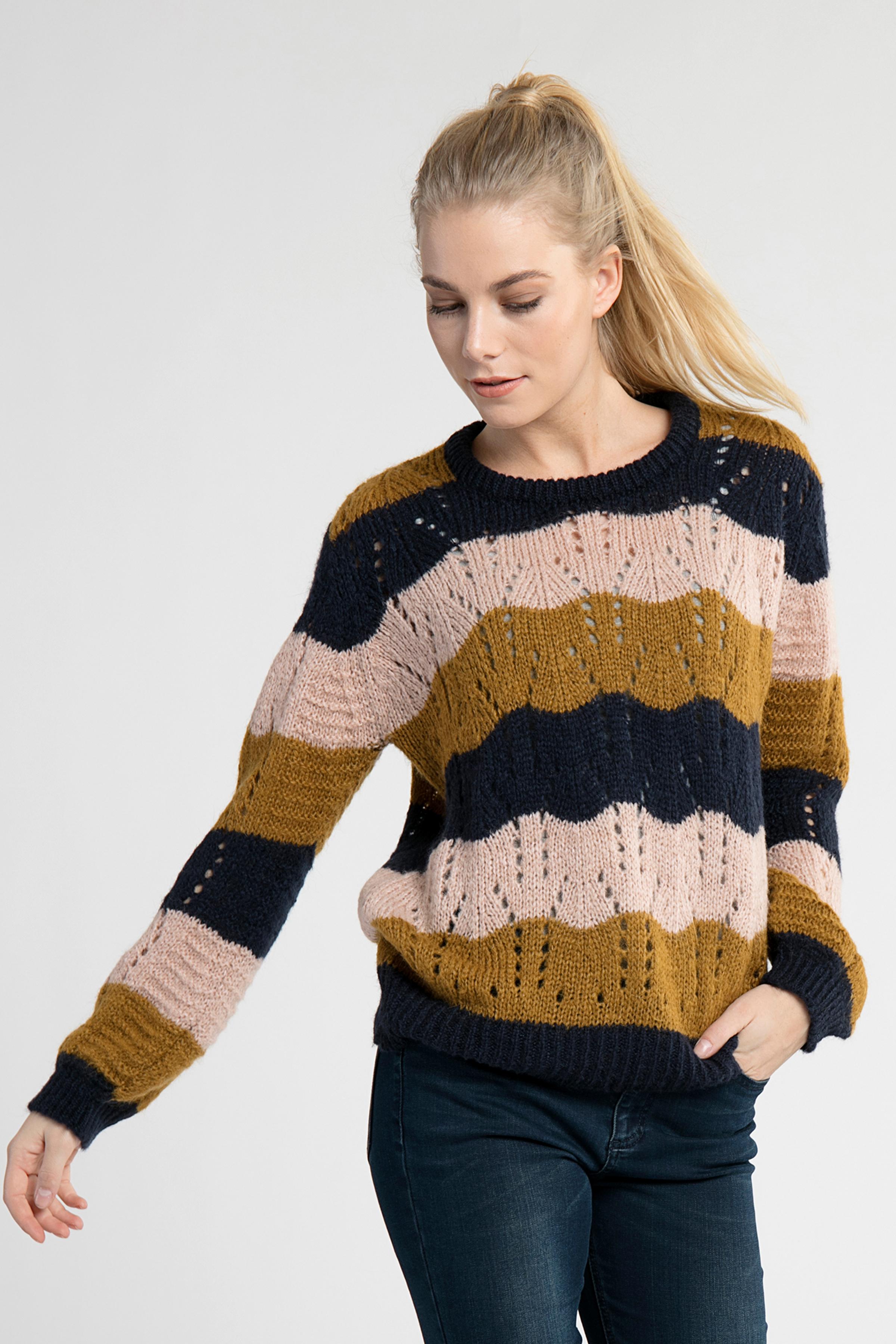 Marinblå/ljusbrun
