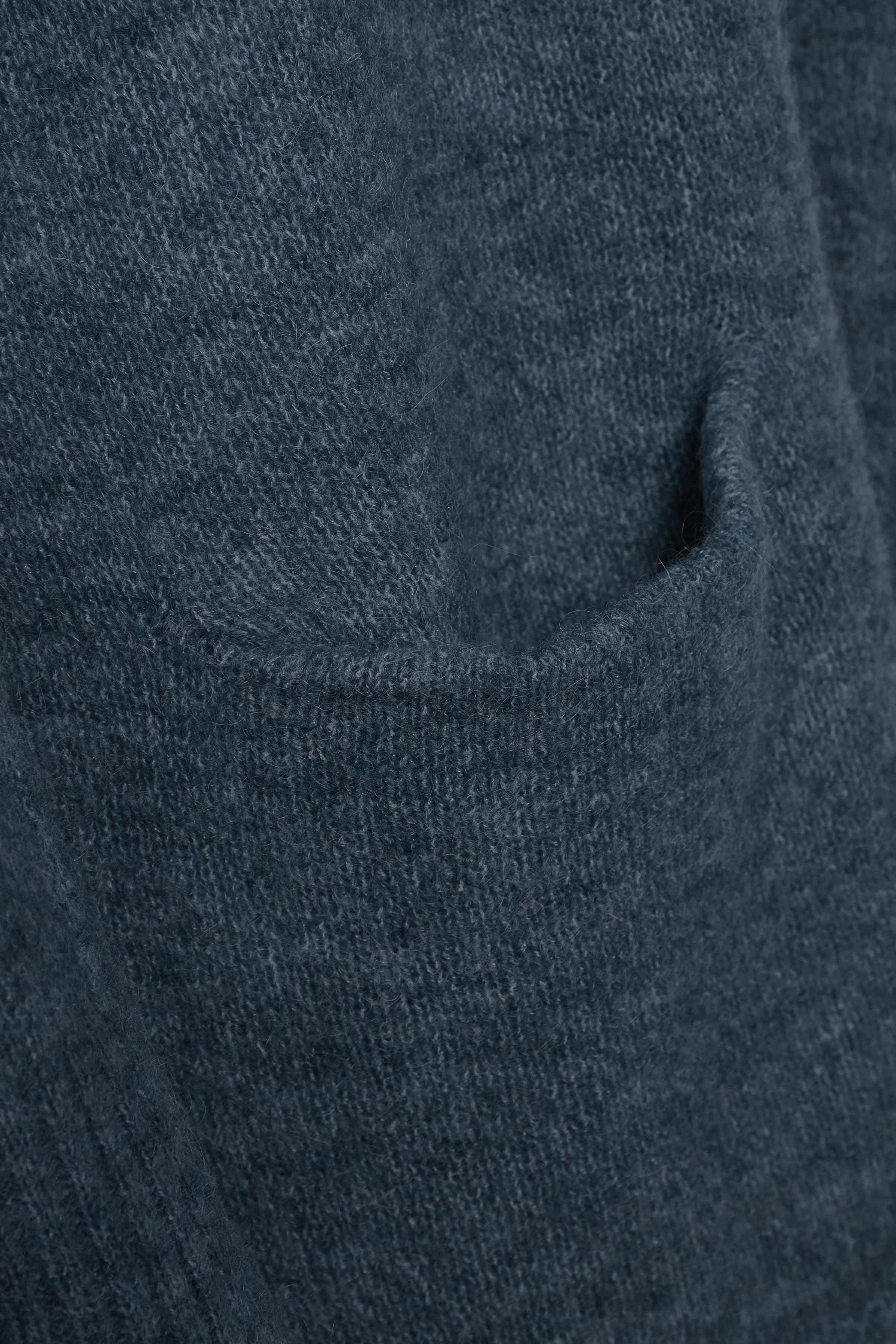 Marinblå melerad Stickad cardigan från Bon'A Parte – Köp Marinblå melerad Stickad cardigan från stl. S-2XL här