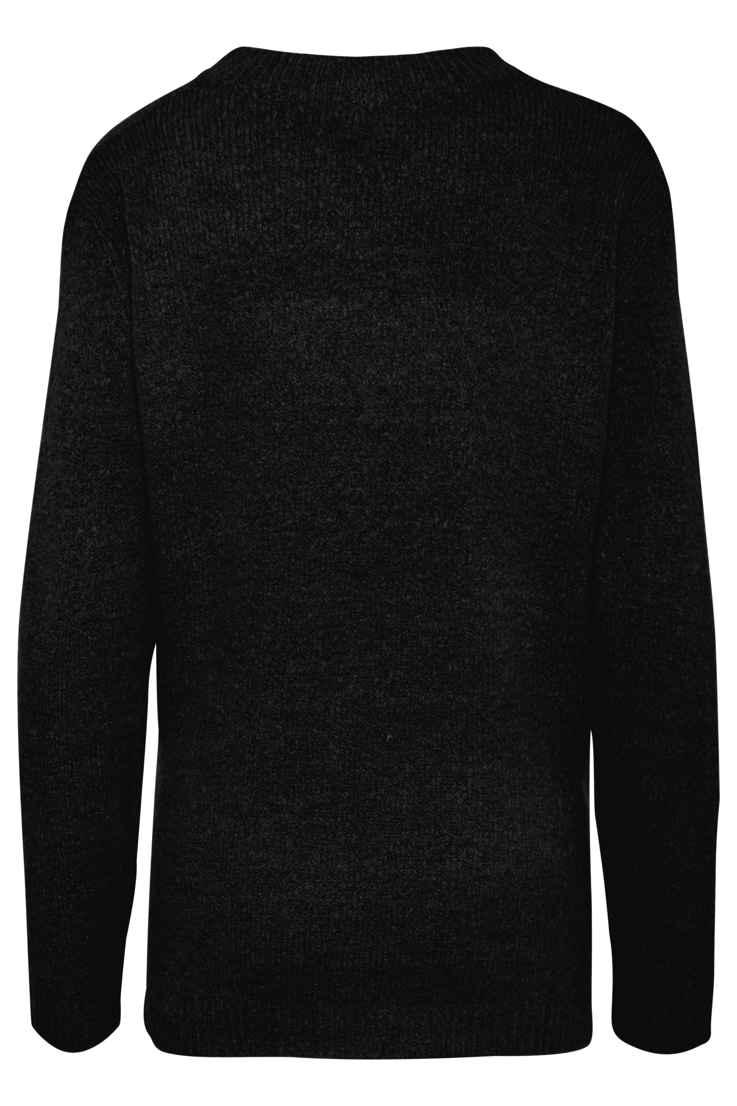 Marinblå melerad Stickad pullover från b.young – Köp Marinblå melerad Stickad pullover från stl. XS-XXL här