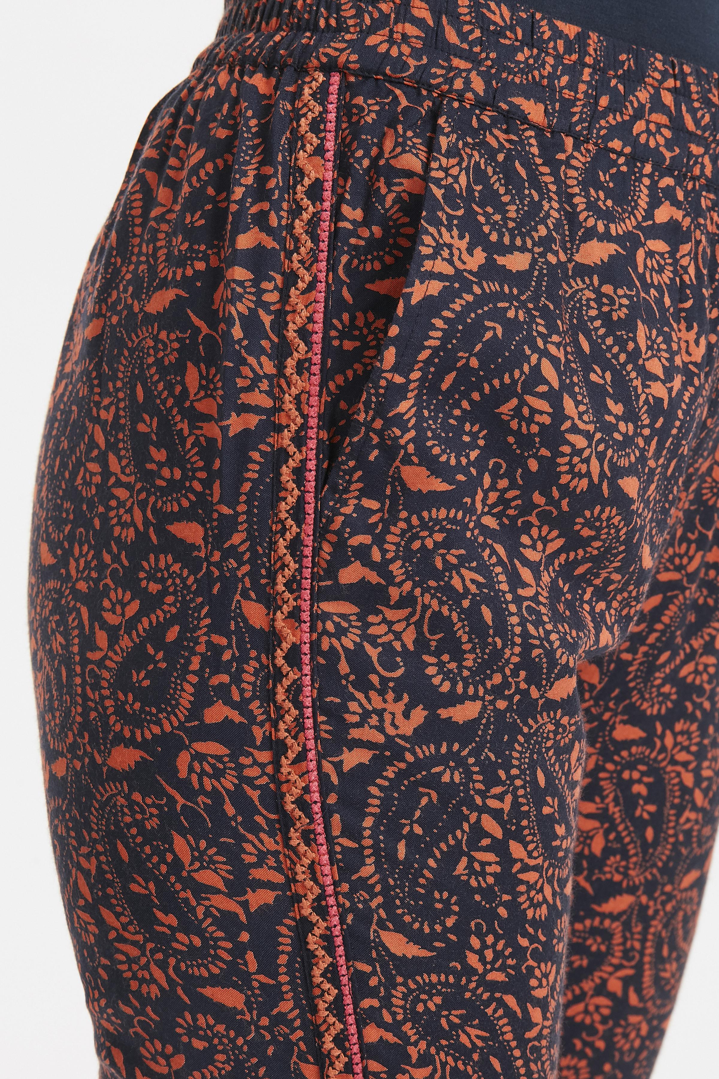 Marinblå/orange Byxa från Bon'A Parte – Köp Marinblå/orange Byxa från stl. S-2XL här
