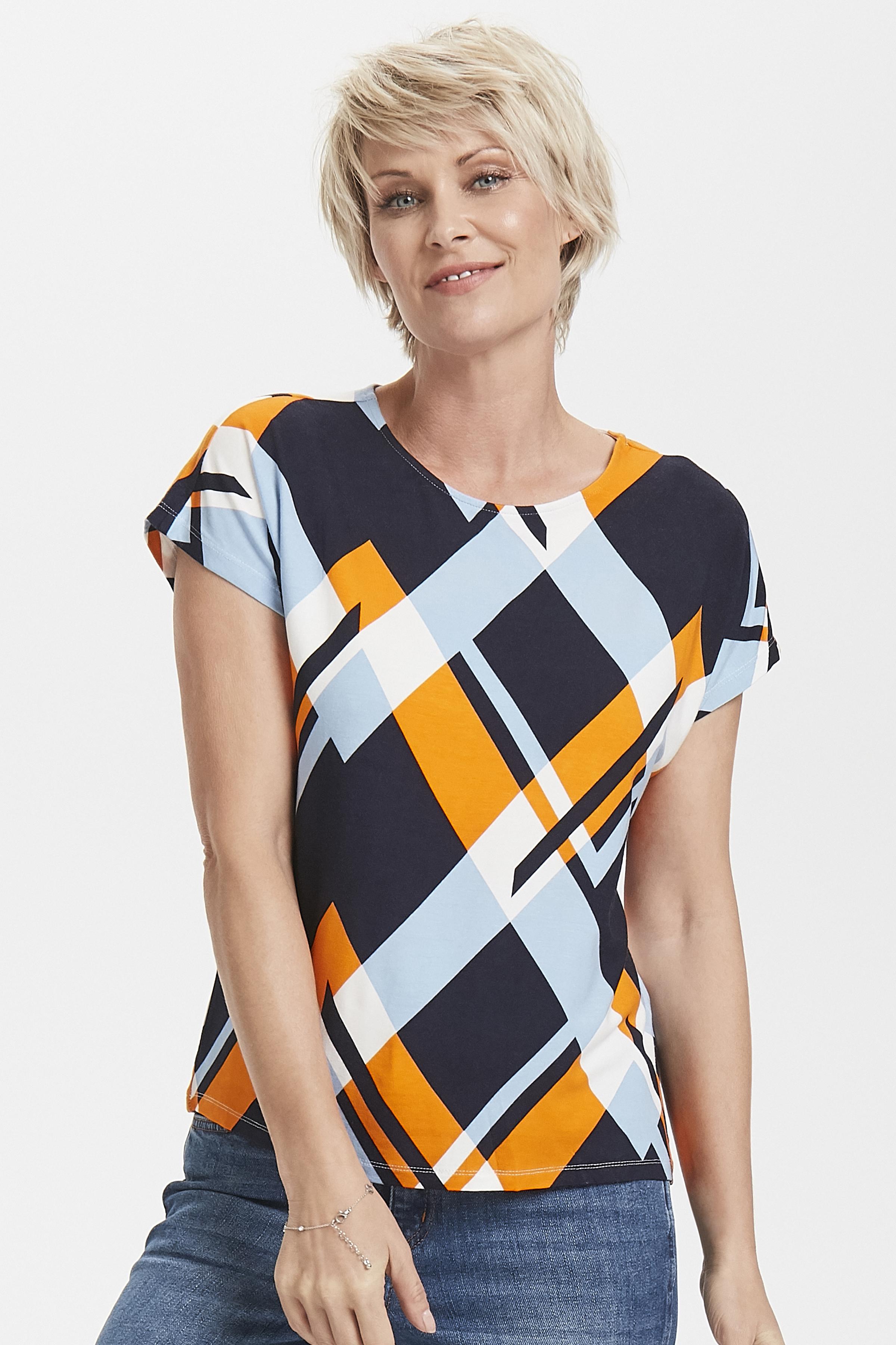 Marinblå/orange Kortärmad T-shirt från Fransa – Köp Marinblå/orange Kortärmad T-shirt från stl. XS-XXL här